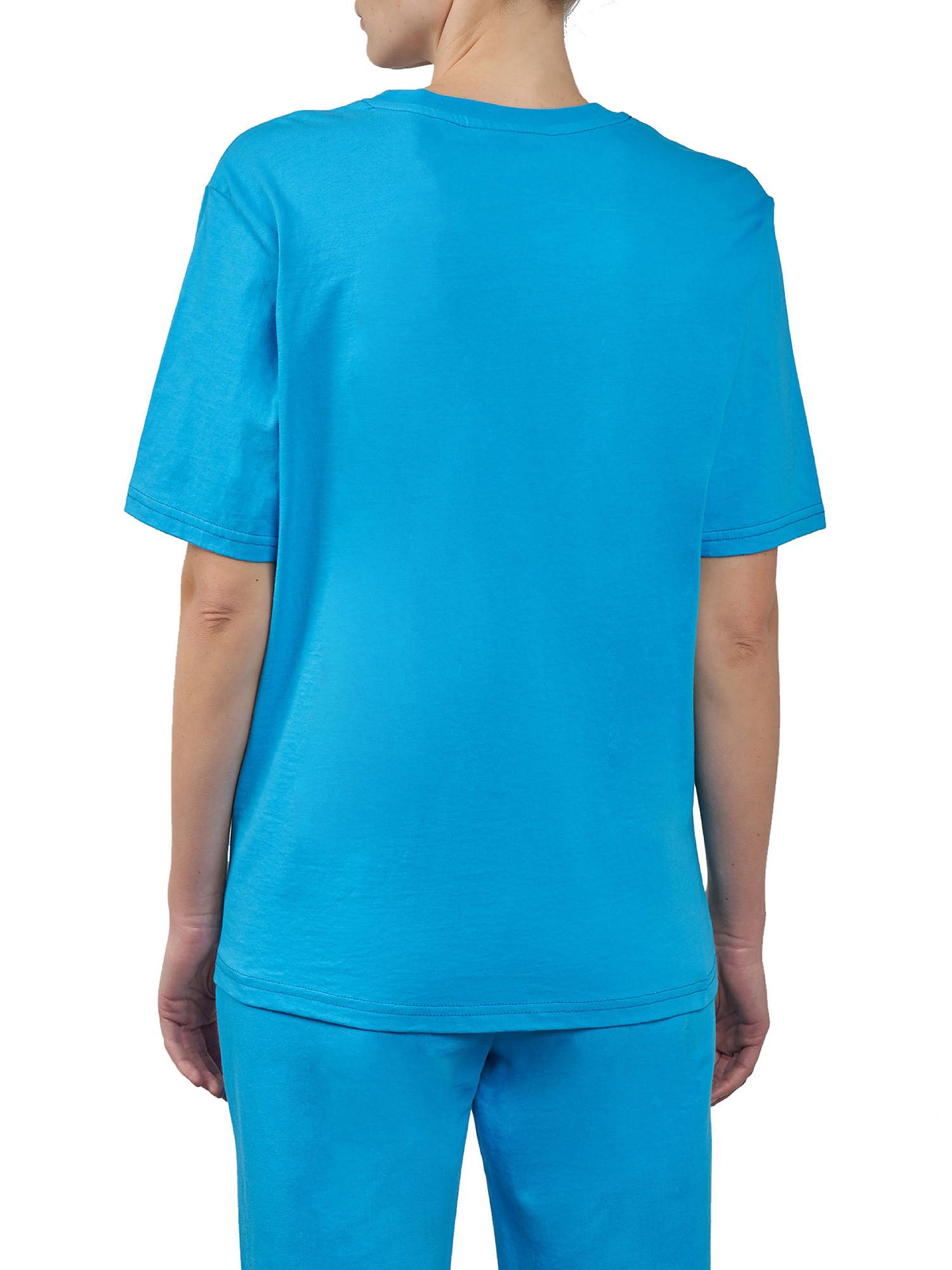 Eyelike patch T-Shirt over, Azzurro Oceano, large image number 1