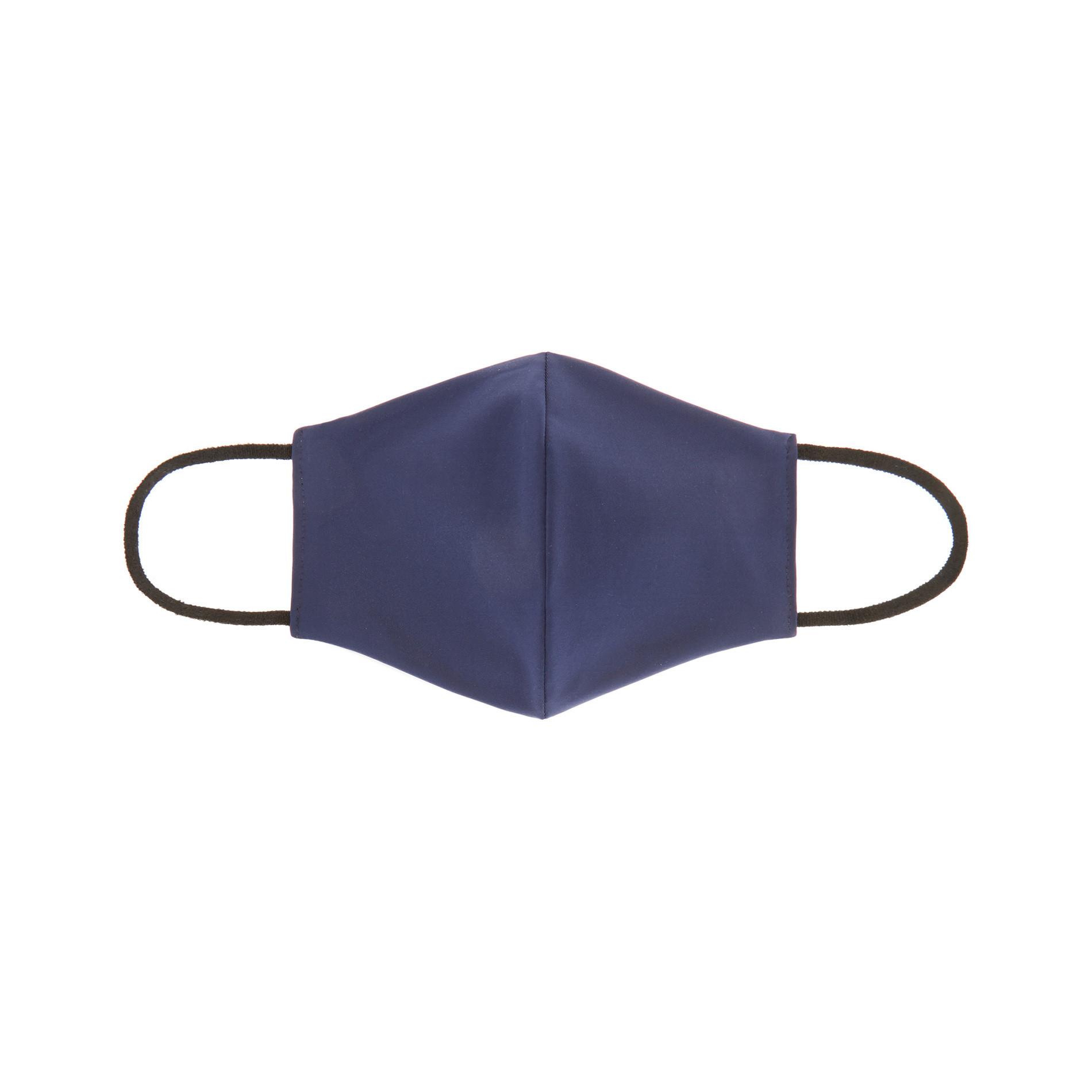 Mascherina bimbo lavabile tessuto tinta unita, Blu, large image number 0