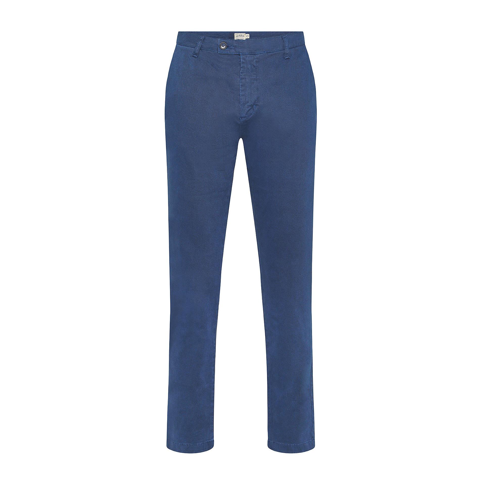 Pantalone chino cotone stretch JCT, Blu, large image number 0