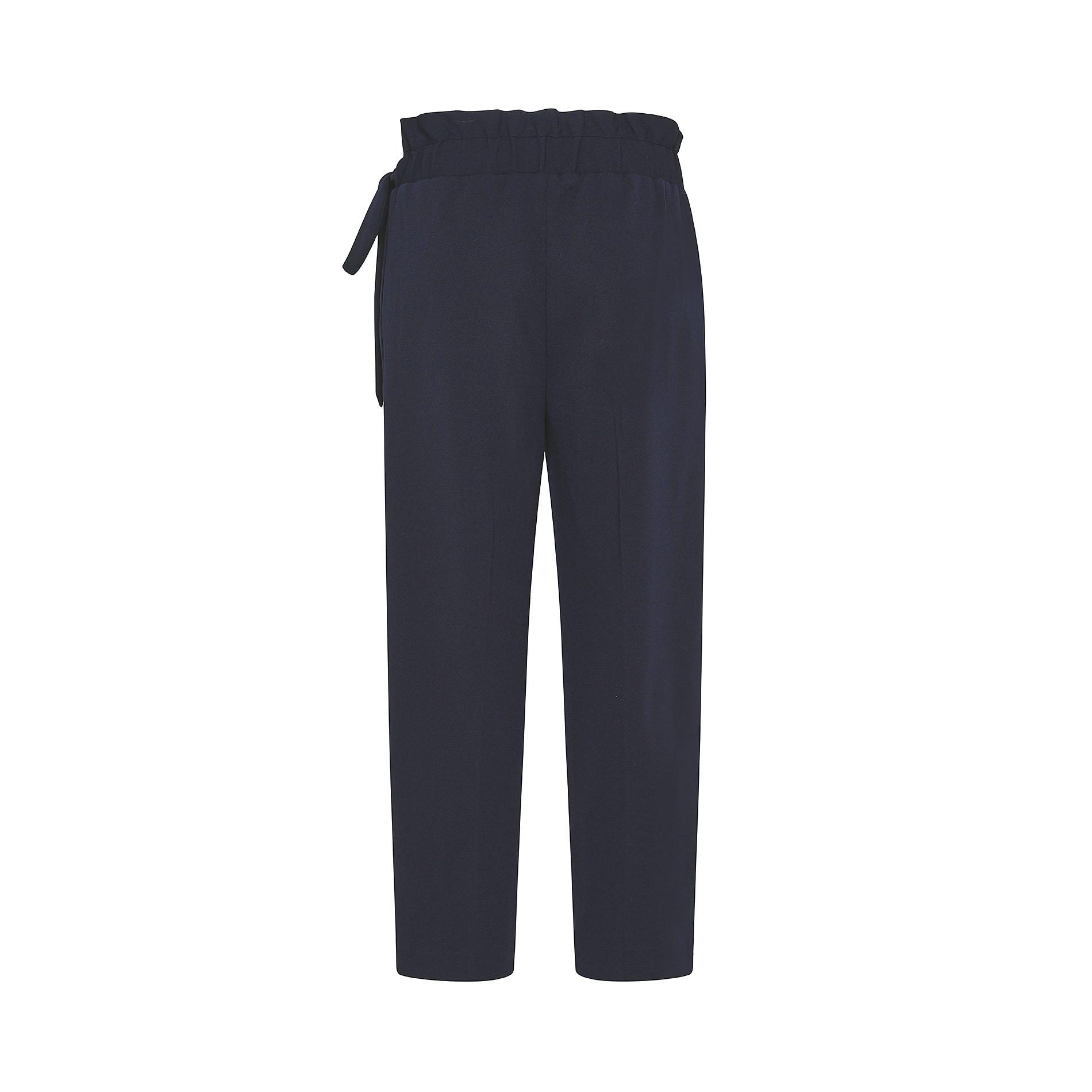 Pantalone ampio tessuto crêpe Koan, Blu scuro, large image number 1