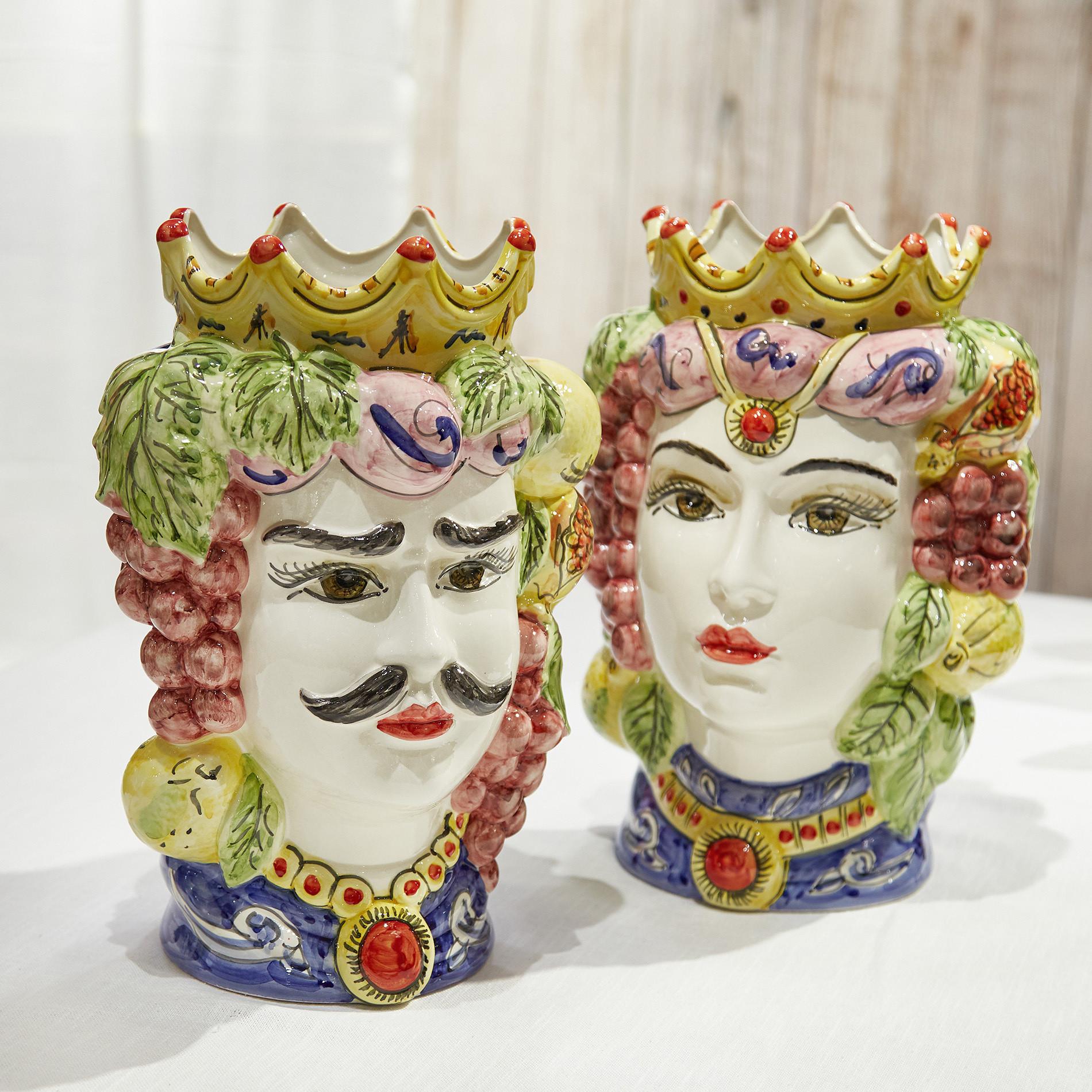 Testa di moro tradizionale by Ceramiche Siciliane Ruggeri, Multicolor, large image number 5