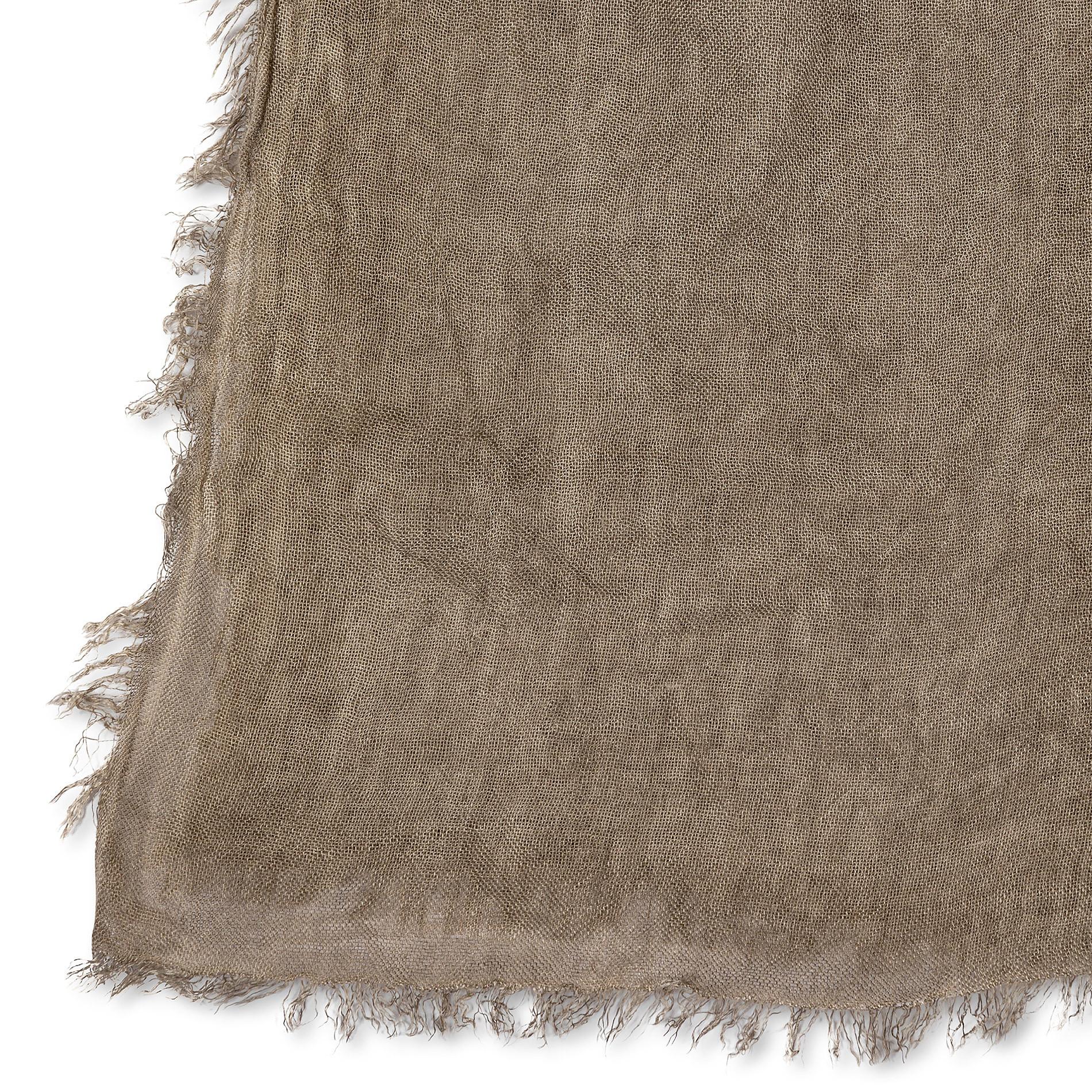 Stola in viscosa di bamboo tinta unita, Marrone, large image number 1