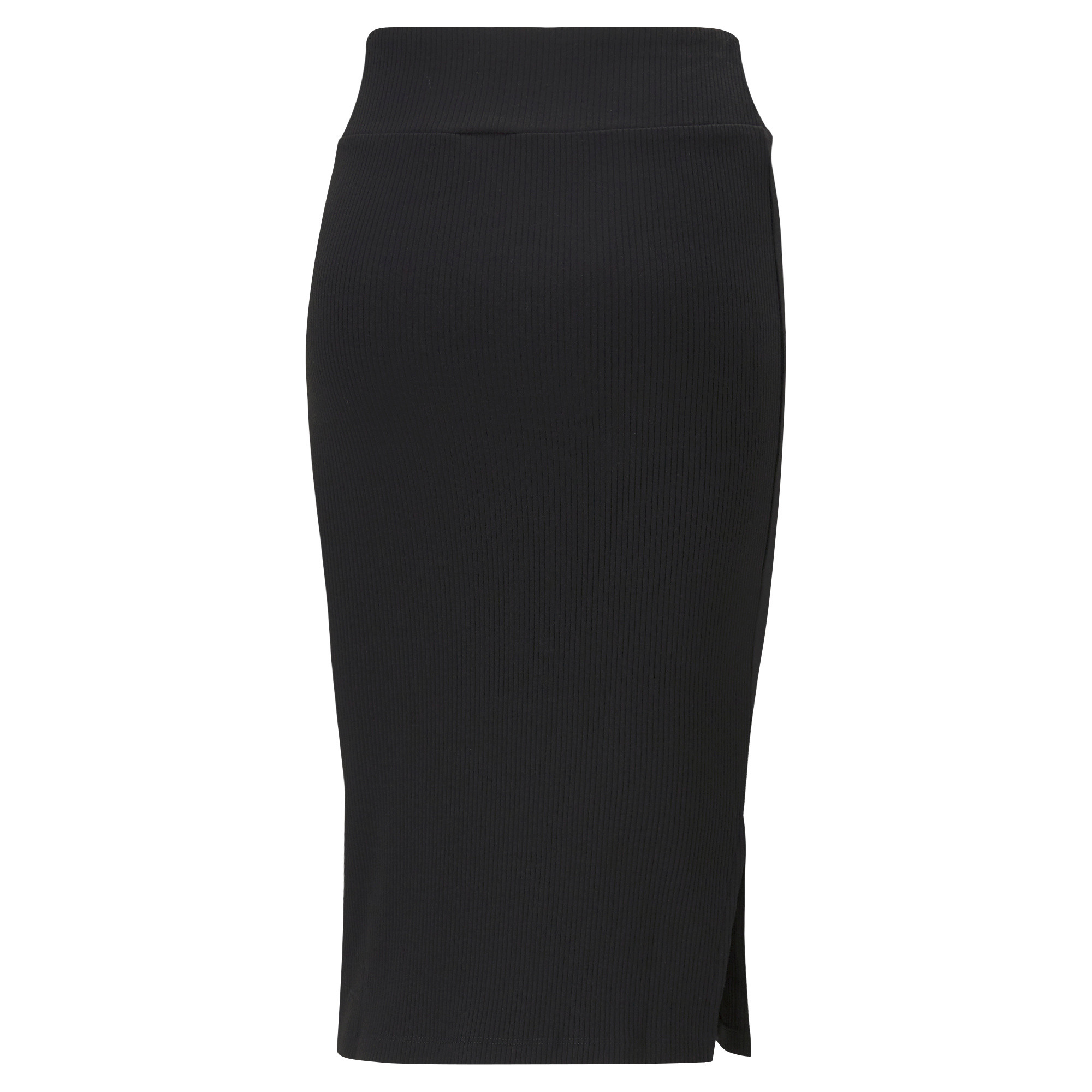Gonna sportiva midi a coste Classics Collection, Nero, large image number 1