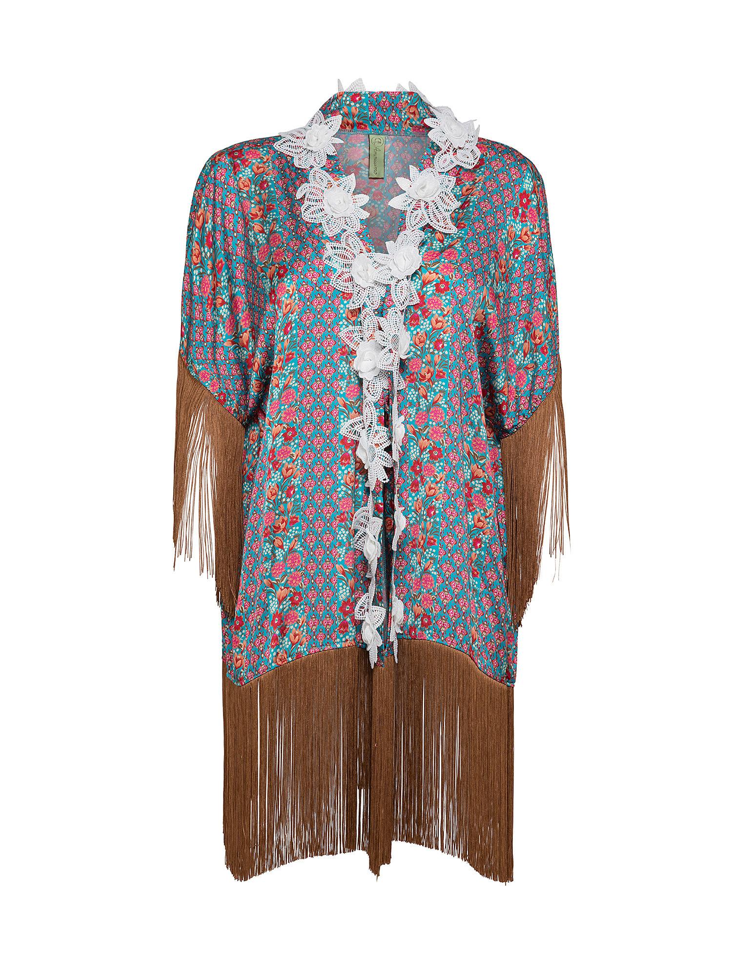 Kimono in raso, Multicolor, large image number 0