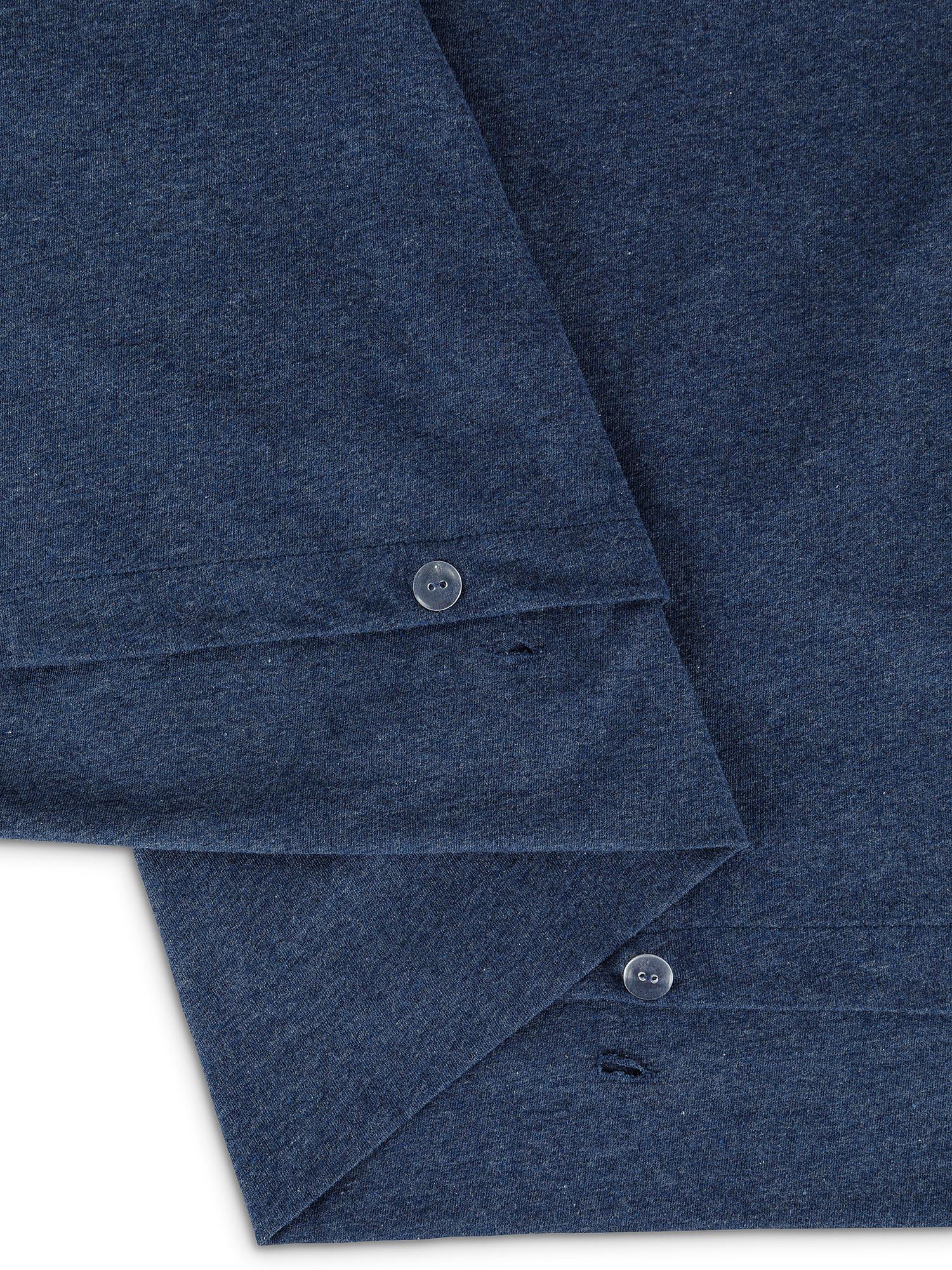 Parure copripiumino jersey di cotone tinta unita, Blu, large image number 1