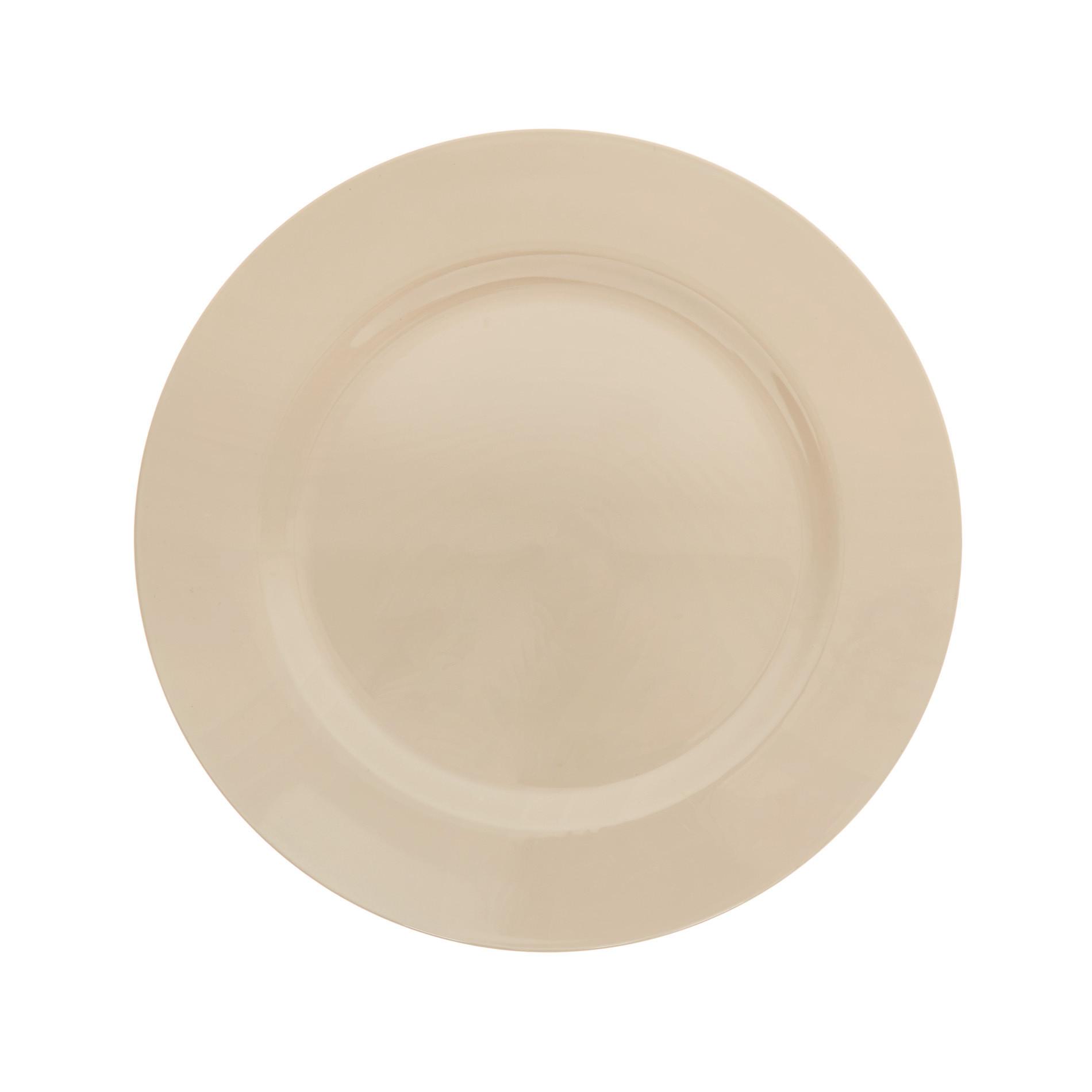 Sottopiatto plastica liscia, Beige, large image number 0