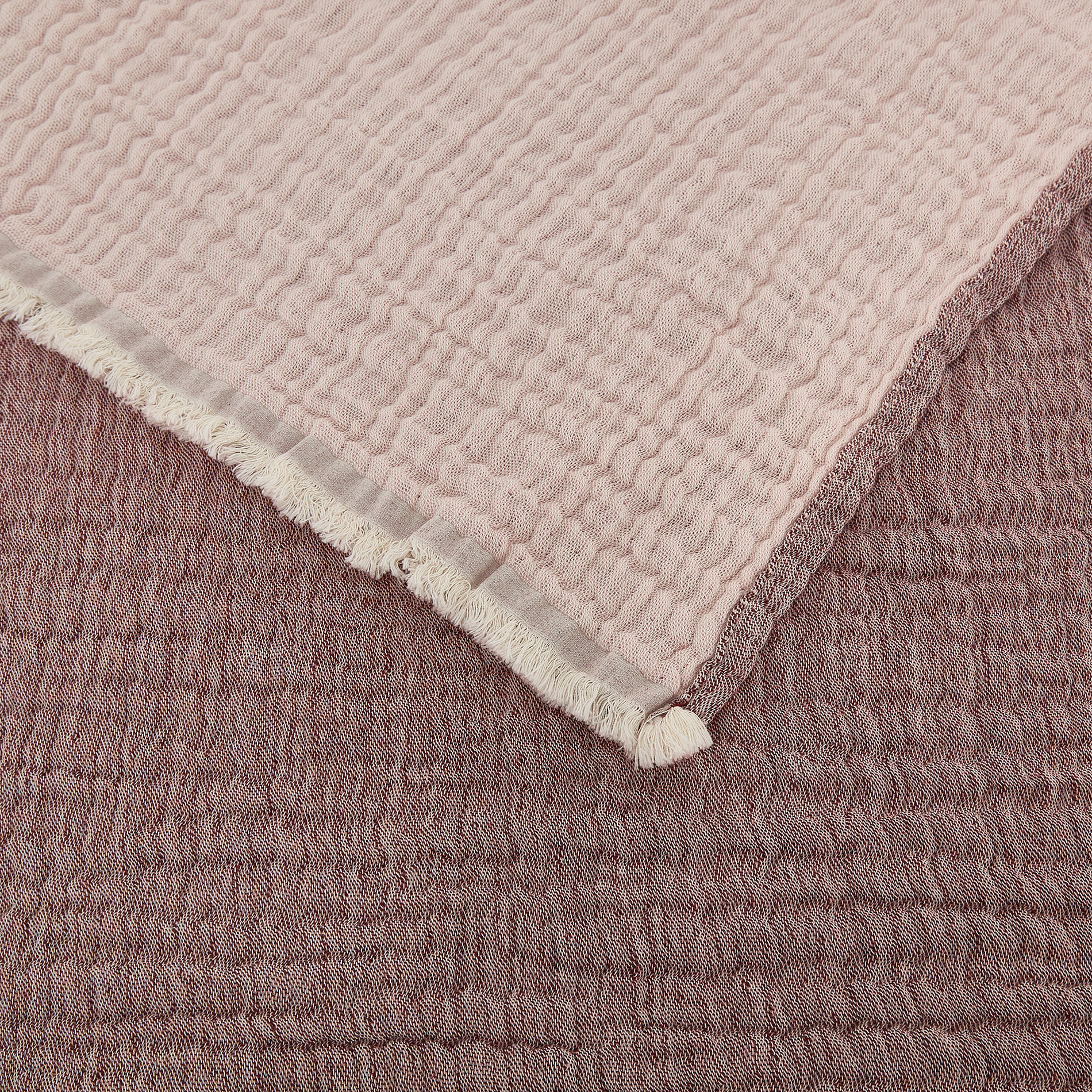 Plaid garza di cotone double-face, Beige scuro, large image number 1