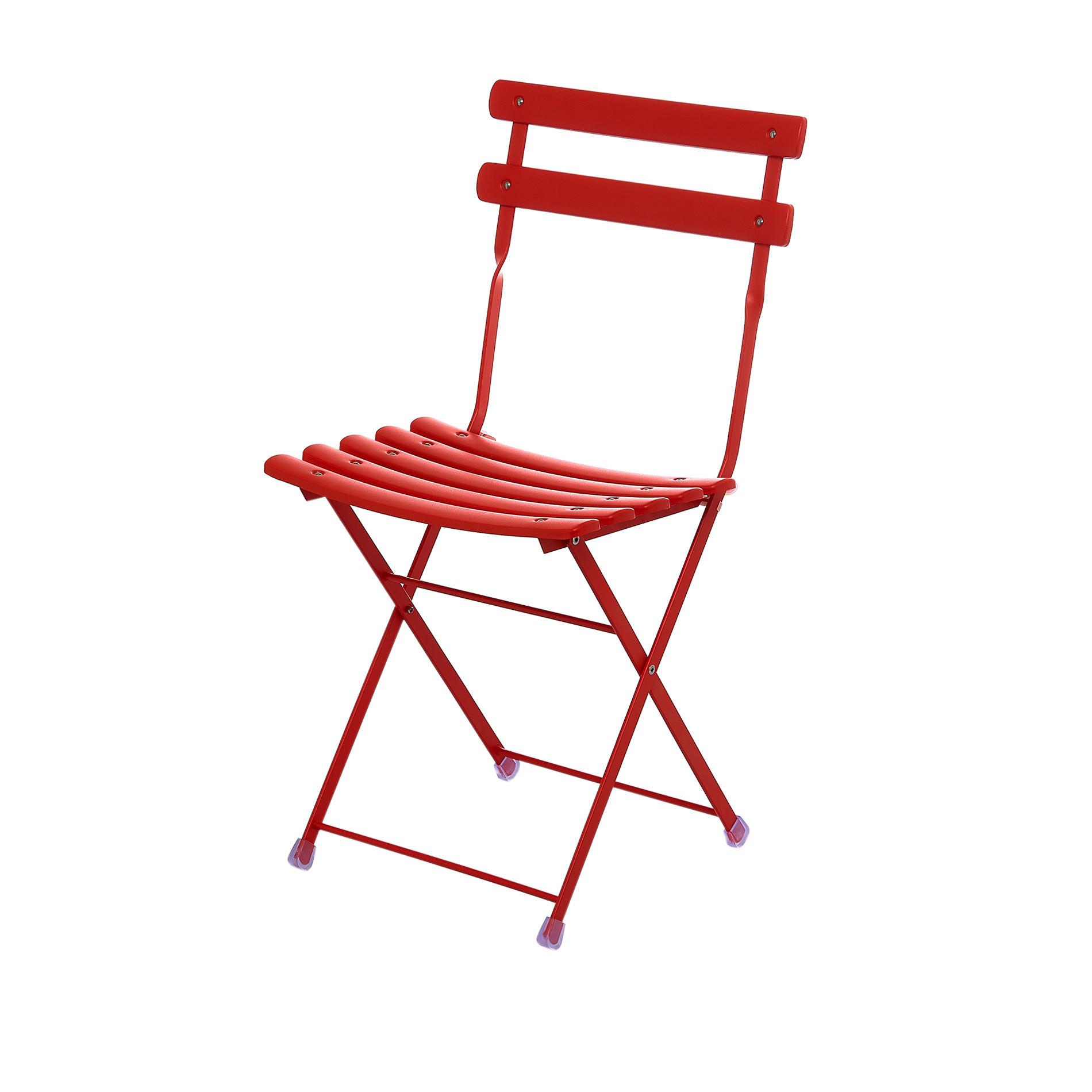 EMU Set tavolo e 2 sedie pieghevoli Arc en Ciel, Rosso, large image number 1