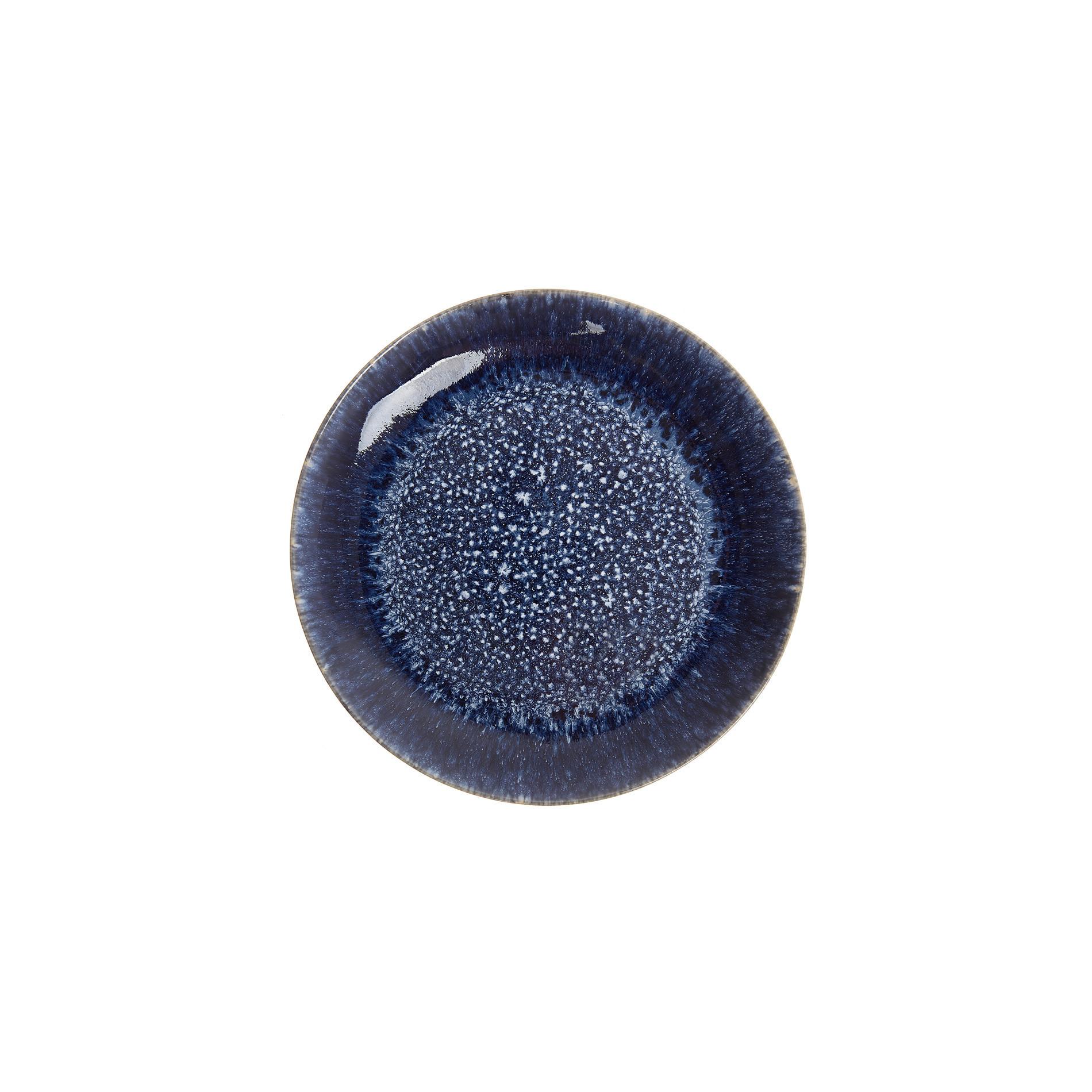 Piatto frutta ceramica smalto reattivo, Blu, large image number 0