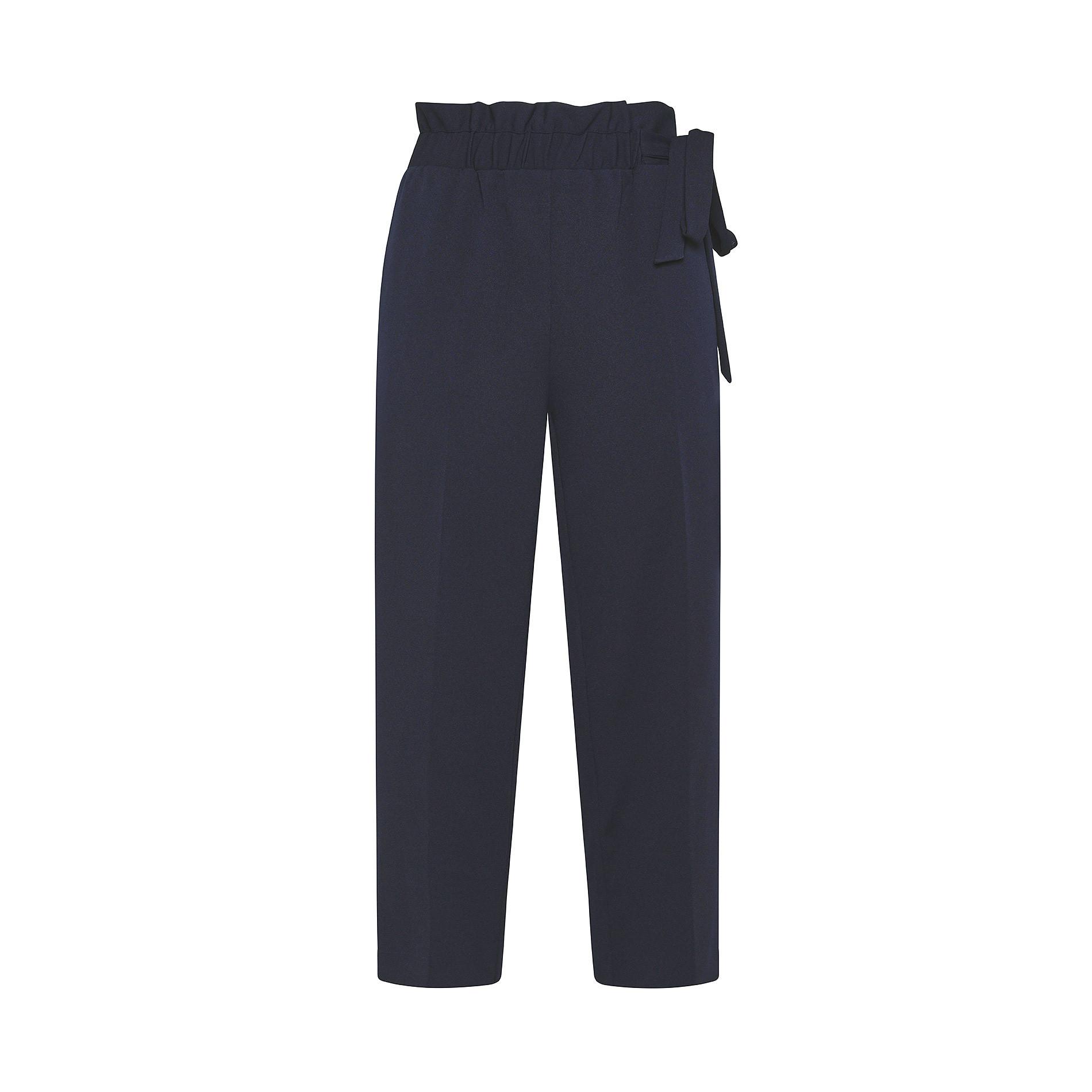 Pantalone ampio tessuto crêpe Koan, Blu scuro, large image number 0