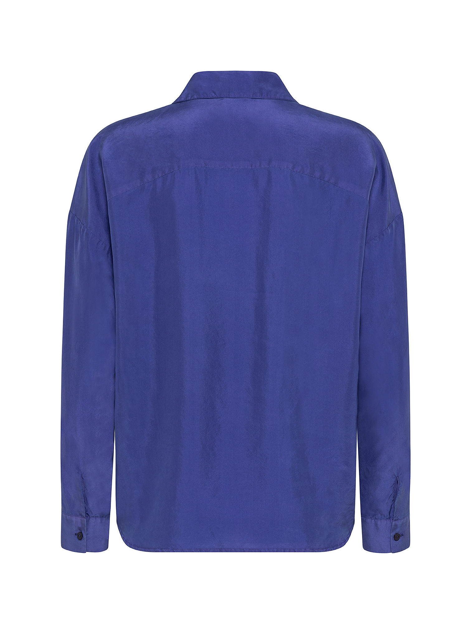 Camicia donna in seta, Azzurro Oceano, large image number 1