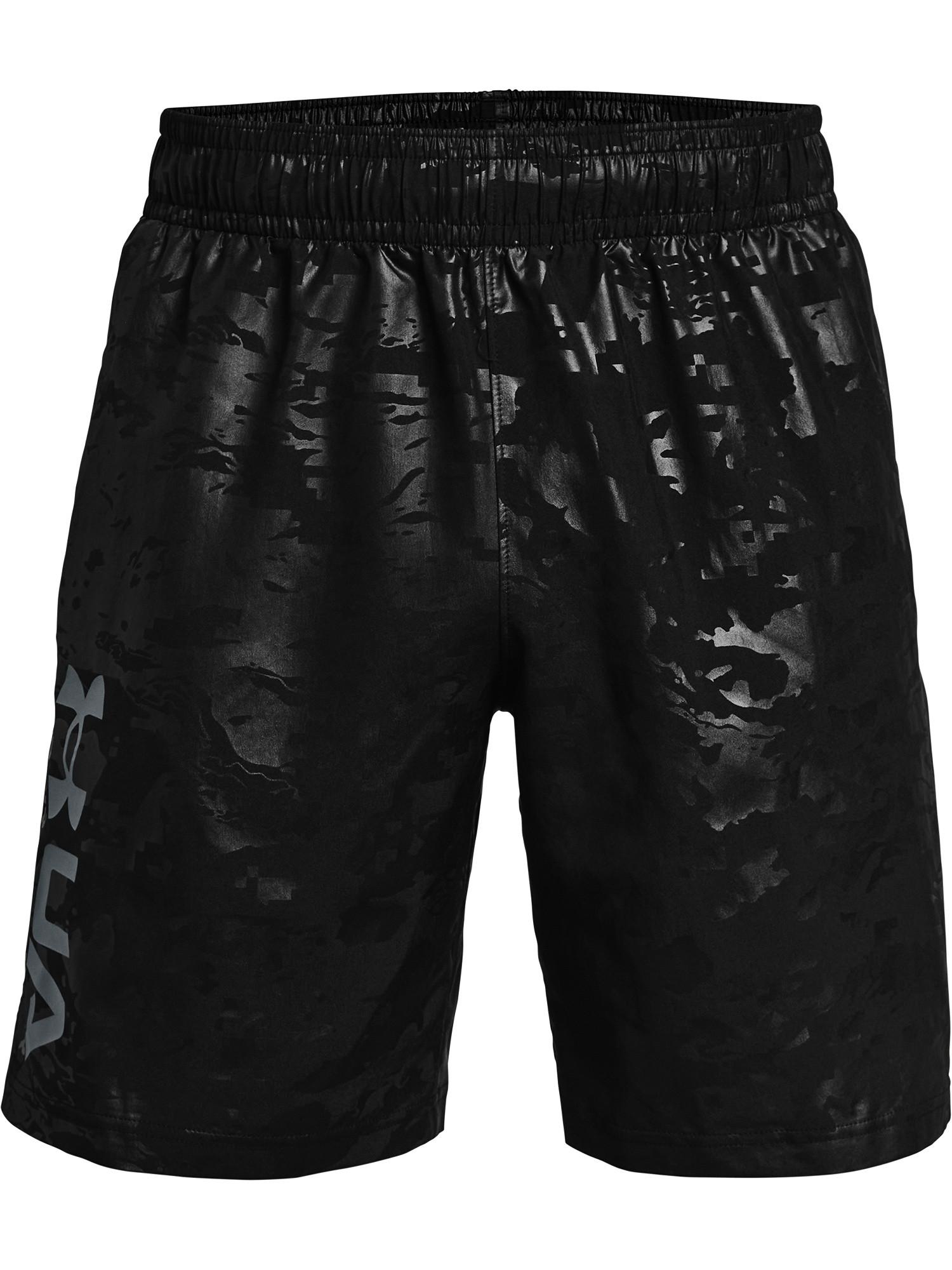 Shorts UA Woven Emboss da uomo, Nero, large image number 0