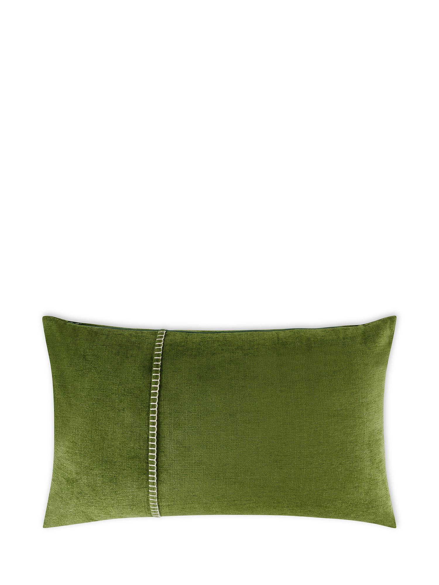 Cuscino velluto con ricamo 35x55cm, Multicolor, large image number 1