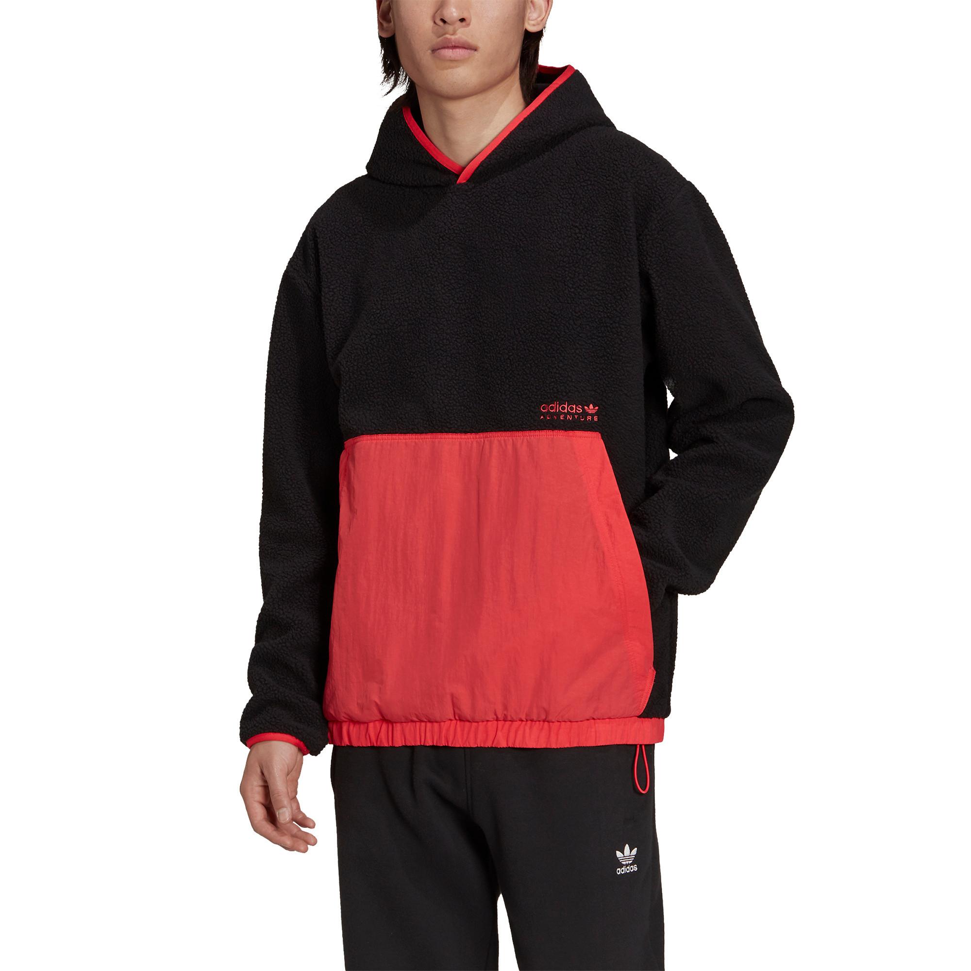 Felpa con cappuccio adidas Adventure Polar Fleece, Nero, large image number 2