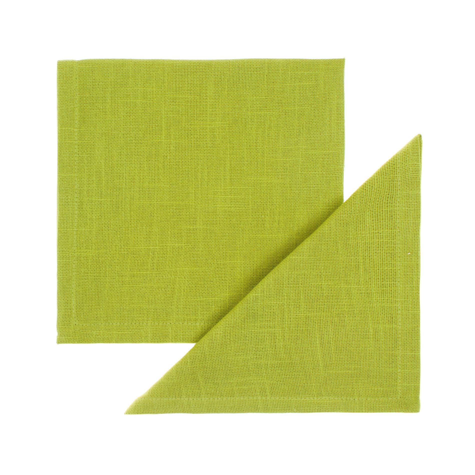 Set 2 tovaglioli puro cotone fiammato, Verde mela, large image number 0
