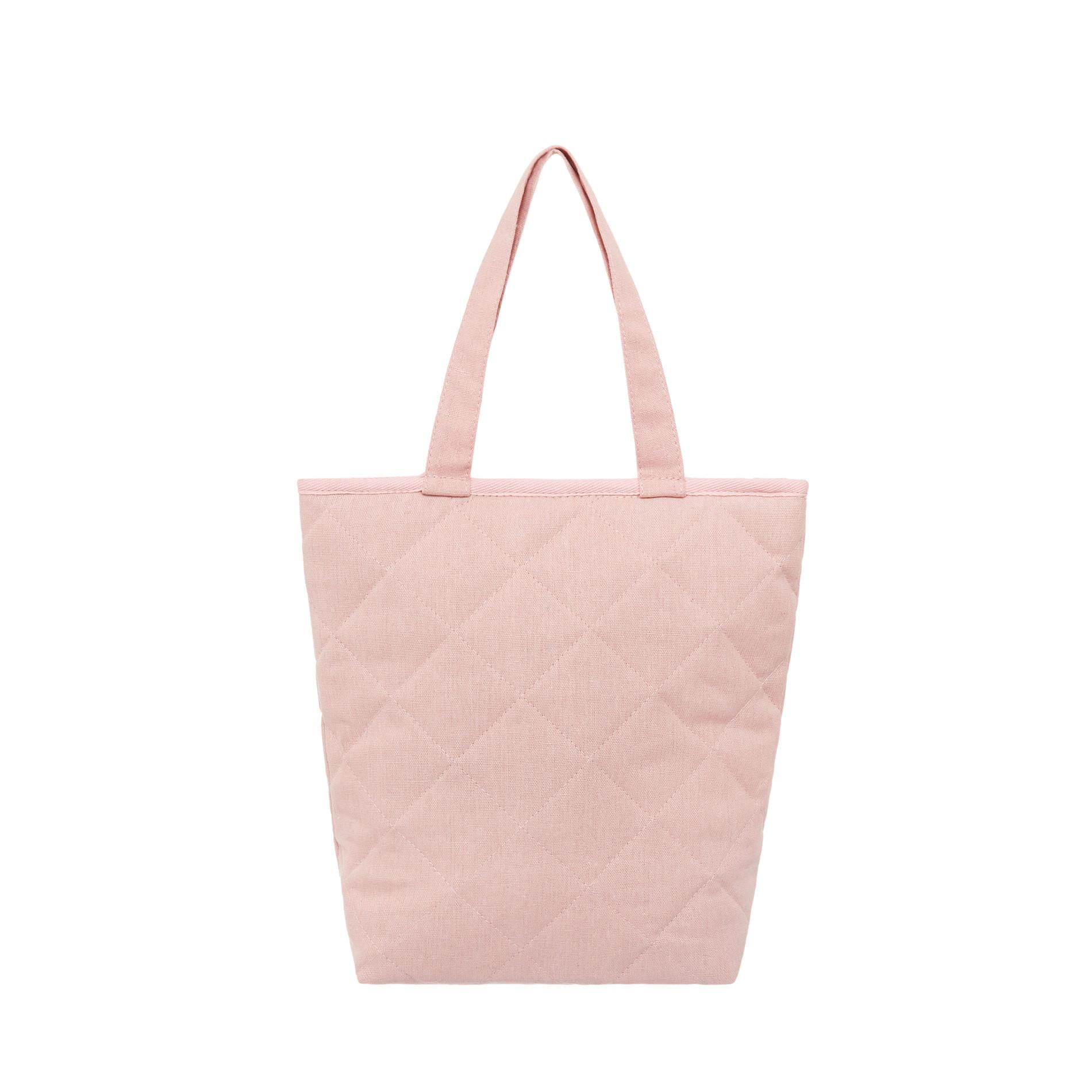 Shopper bag tessuto trapuntato, Rosa, large image number 0