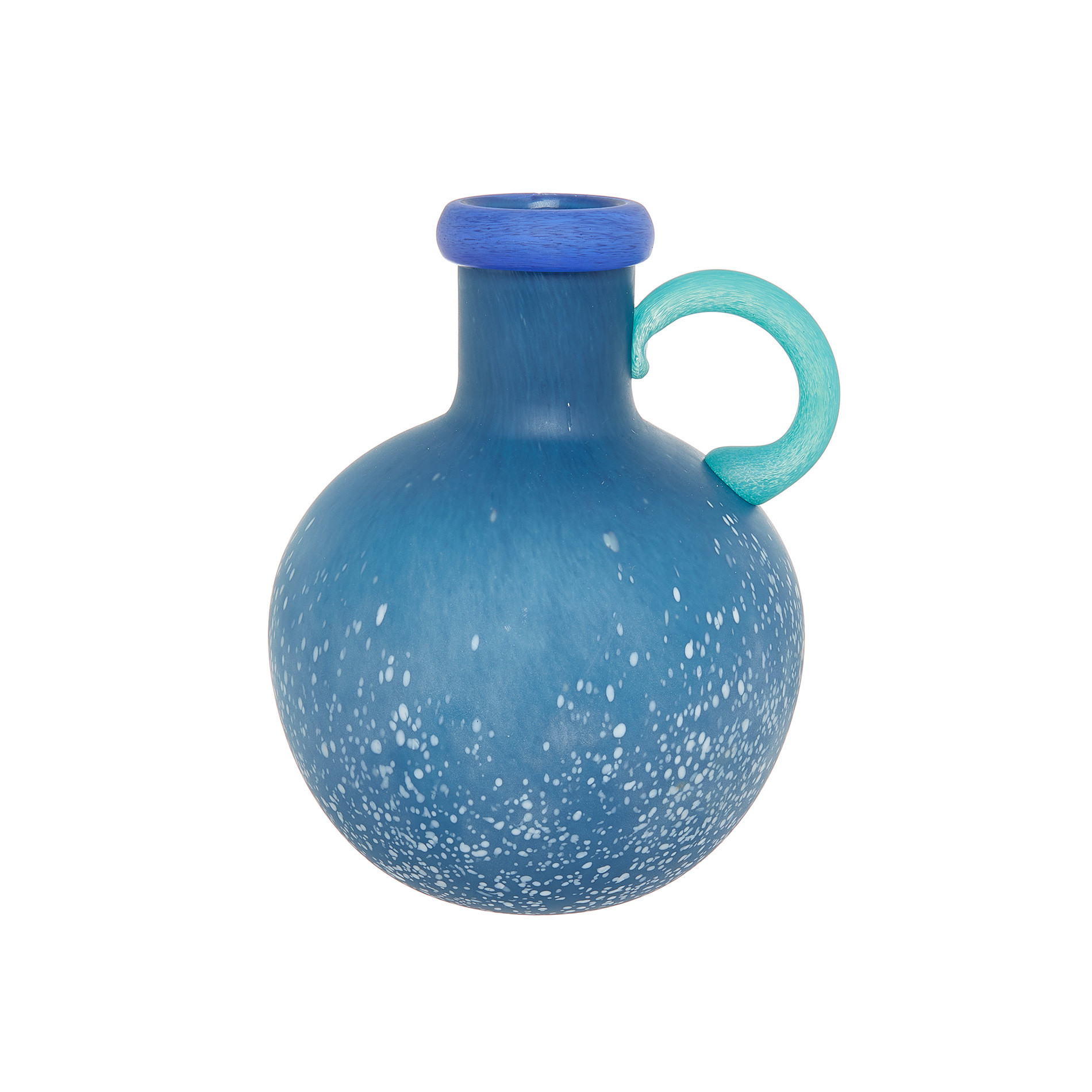 Brocca vetro colorato in pasta, Blu, large image number 0