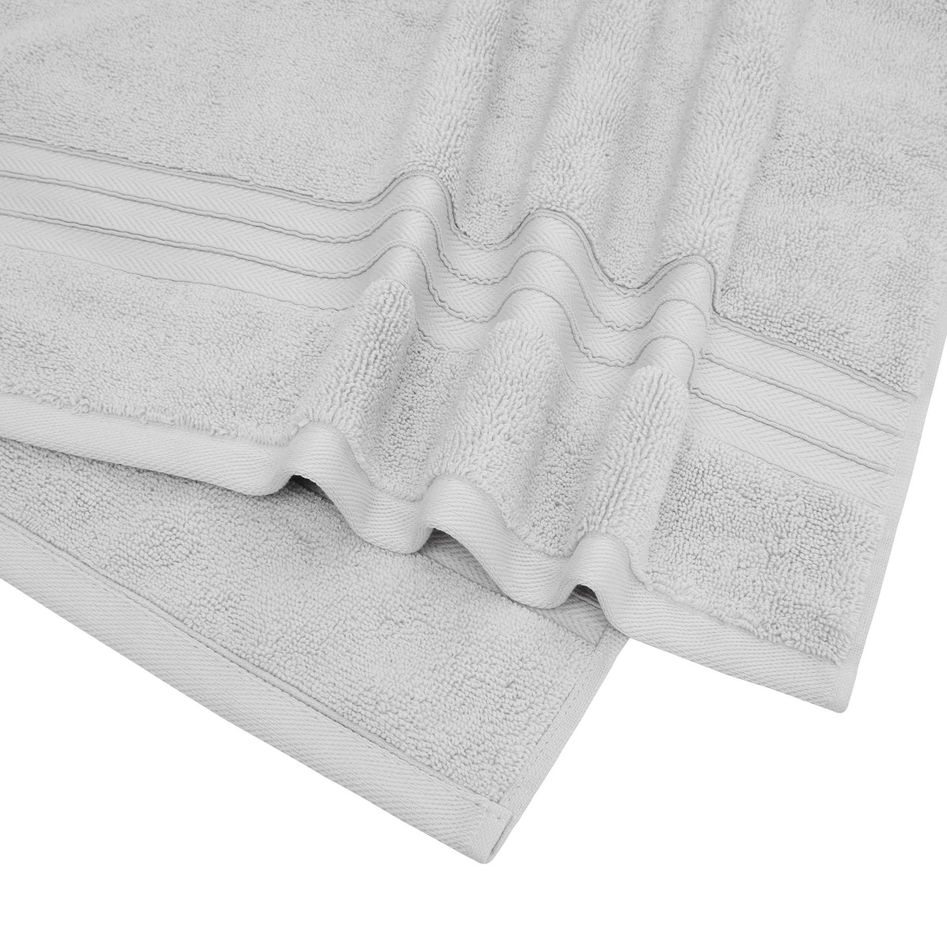 Asciugamano puro cotone tinta unita Thermae, Grigio perla, large image number 3