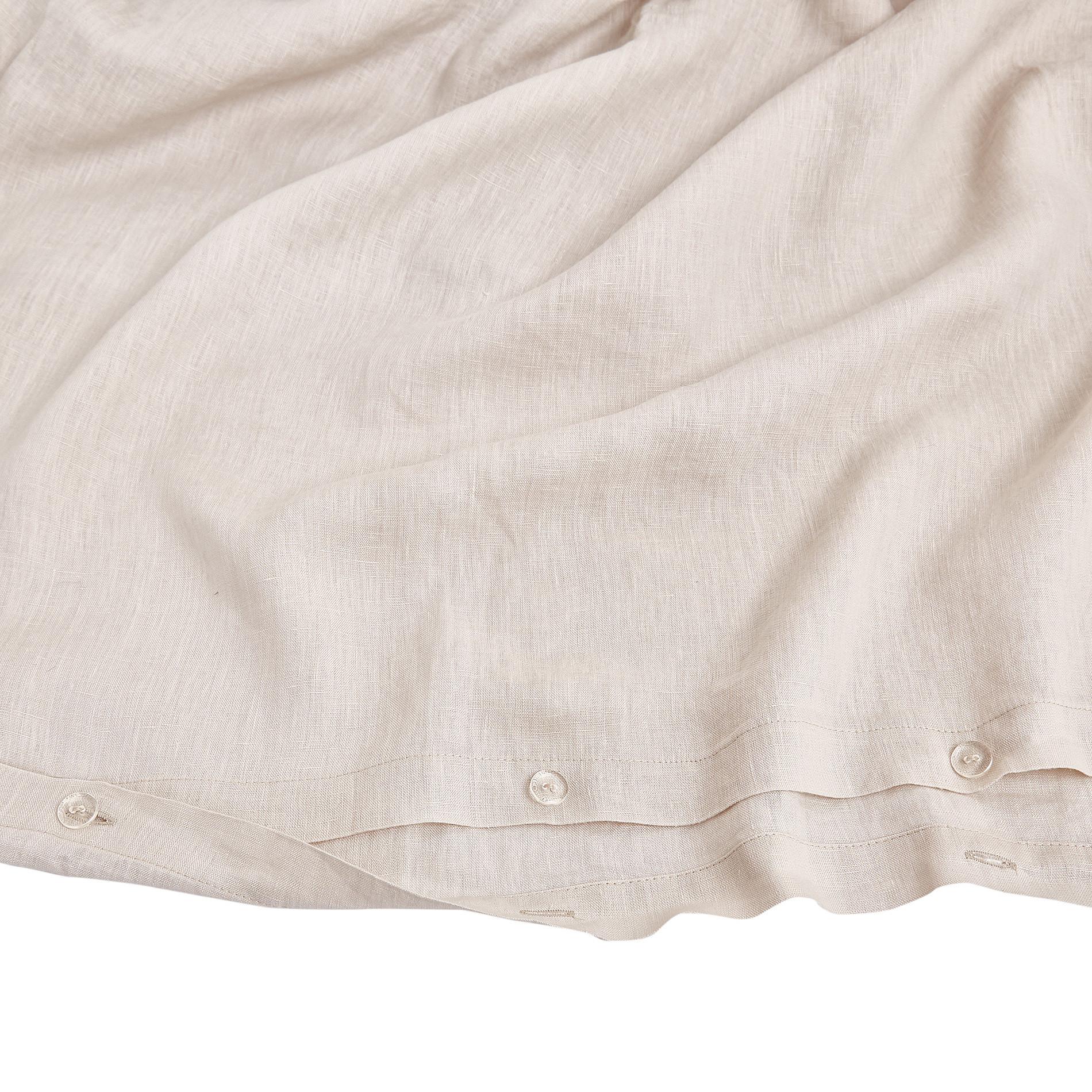 Copripiumino lino alta qualità Interno 11, Beige chiaro, large image number 3
