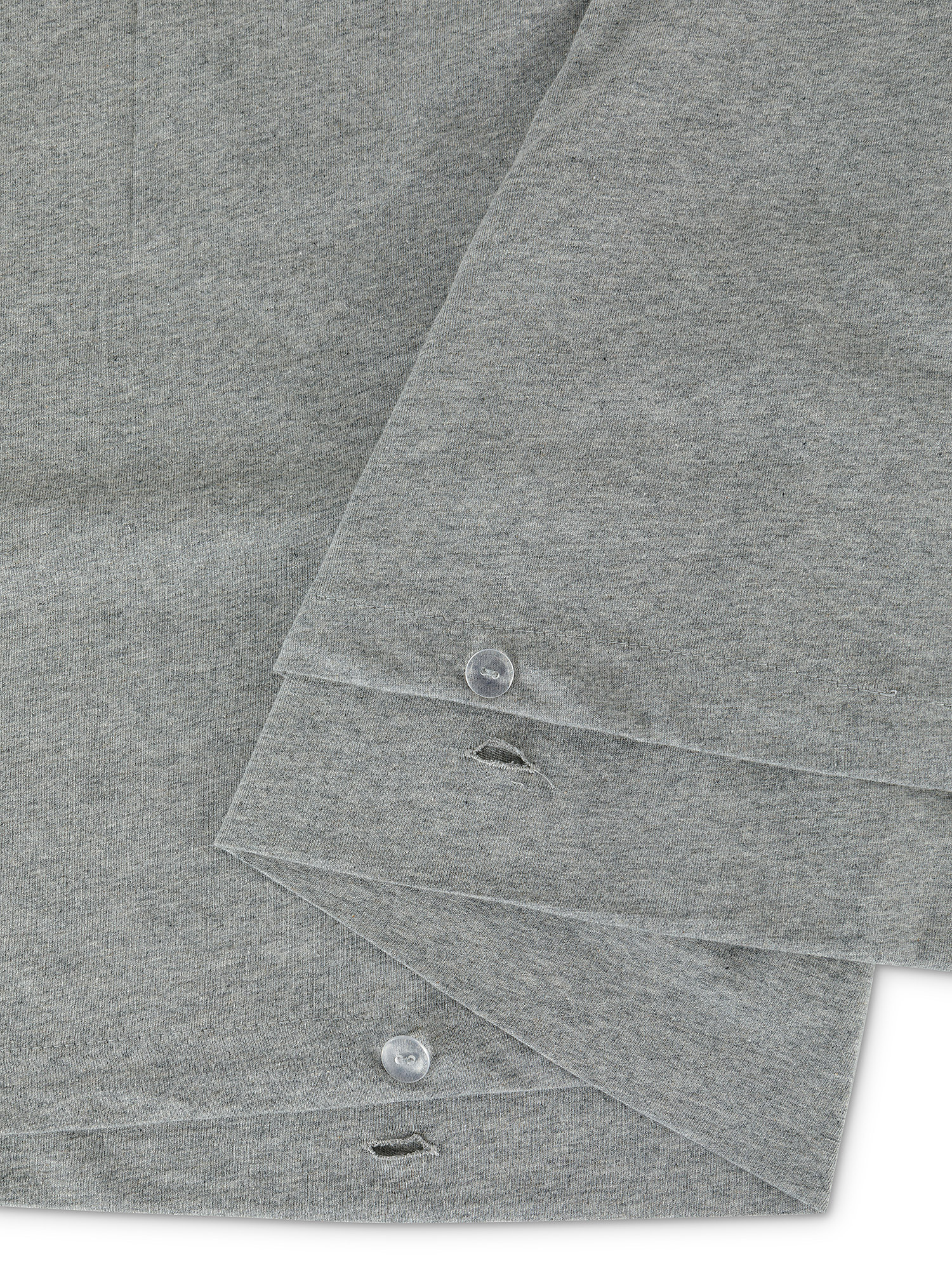 Parure copripiumino jersey di cotone tinta unita, Grigio, large image number 1