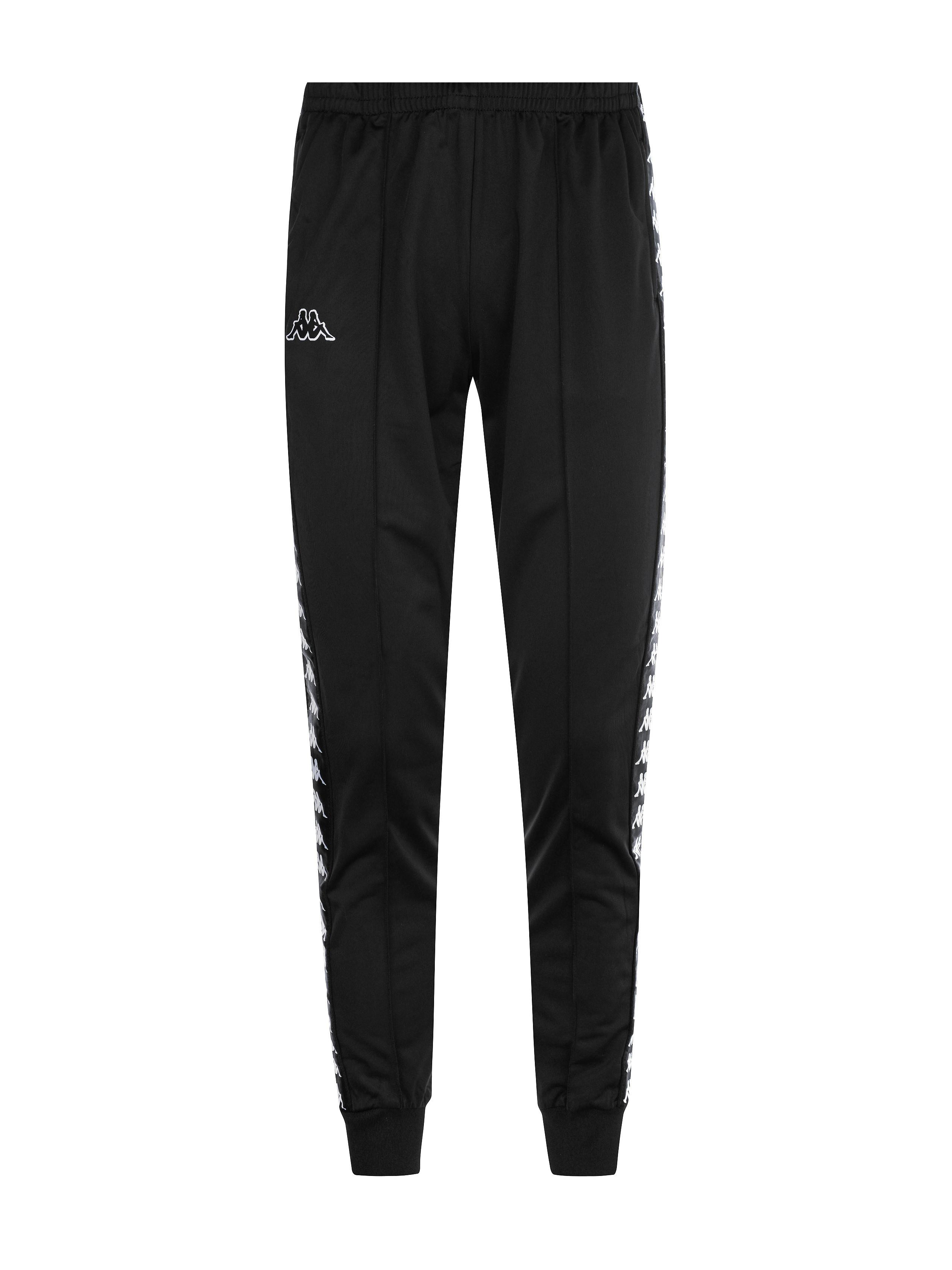 Pantalone slim con banda laterale, Nero, large image number 0