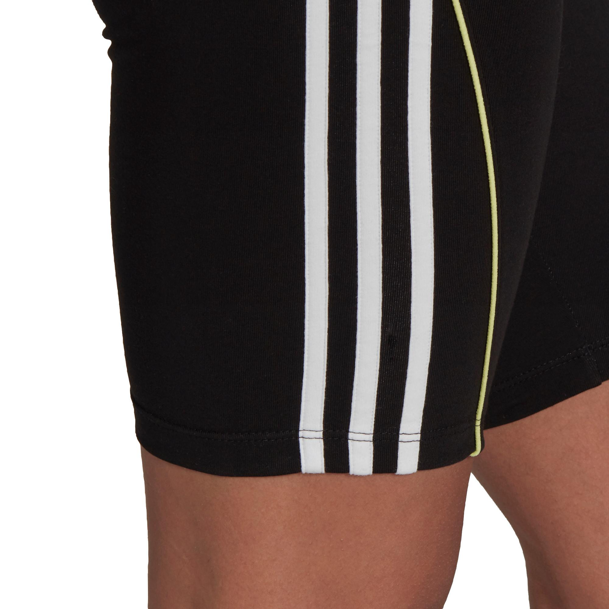 Shorts a vita alta con bordino corto, Nero, large image number 3