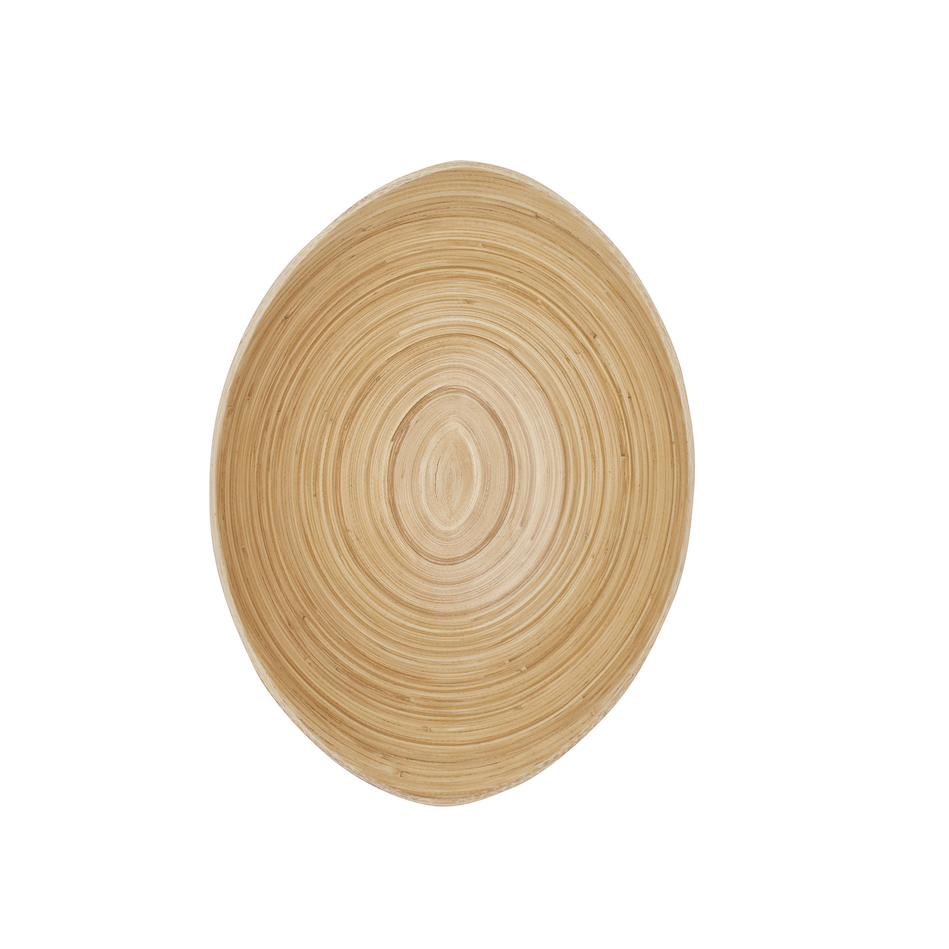 Coppa ovale bamboo, Naturale, large image number 1