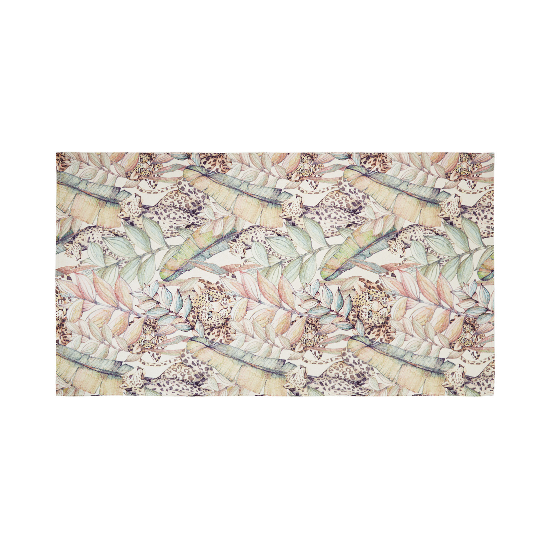 Telo mare cotone velour stampa animalier, Multicolor, large image number 0