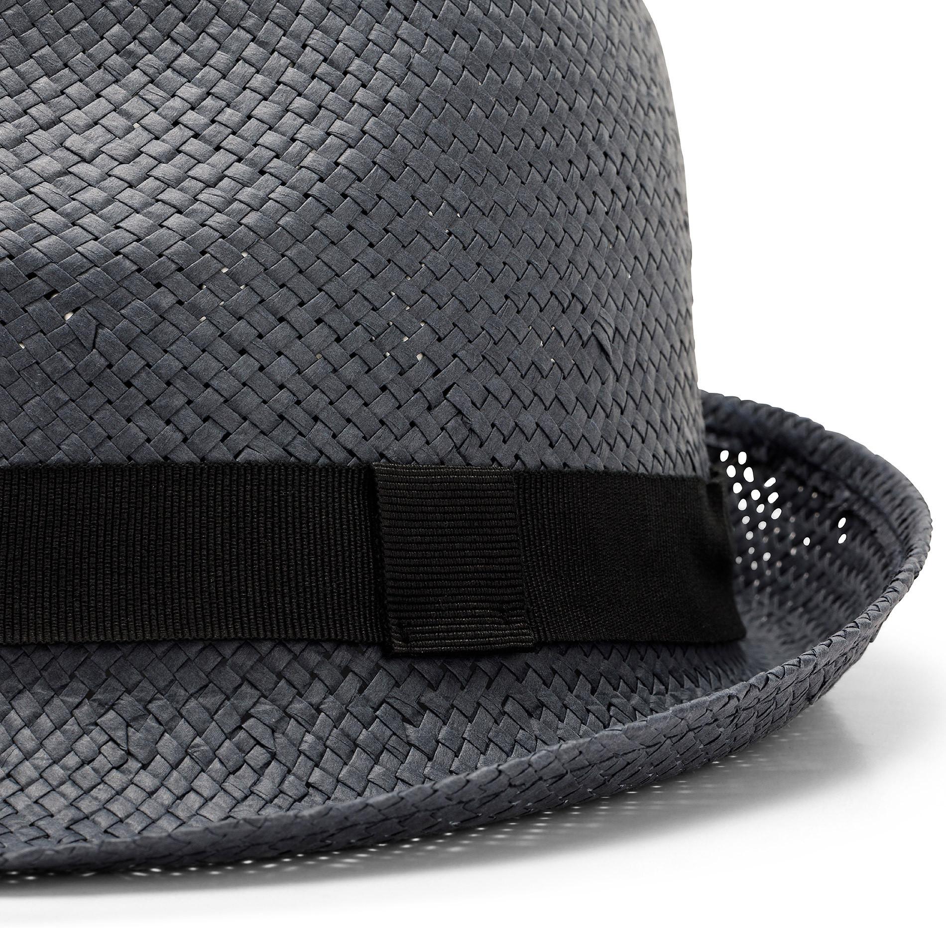 Cappello paglia intrecciata Luca D'Altieri, Grigio fumo, large image number 1