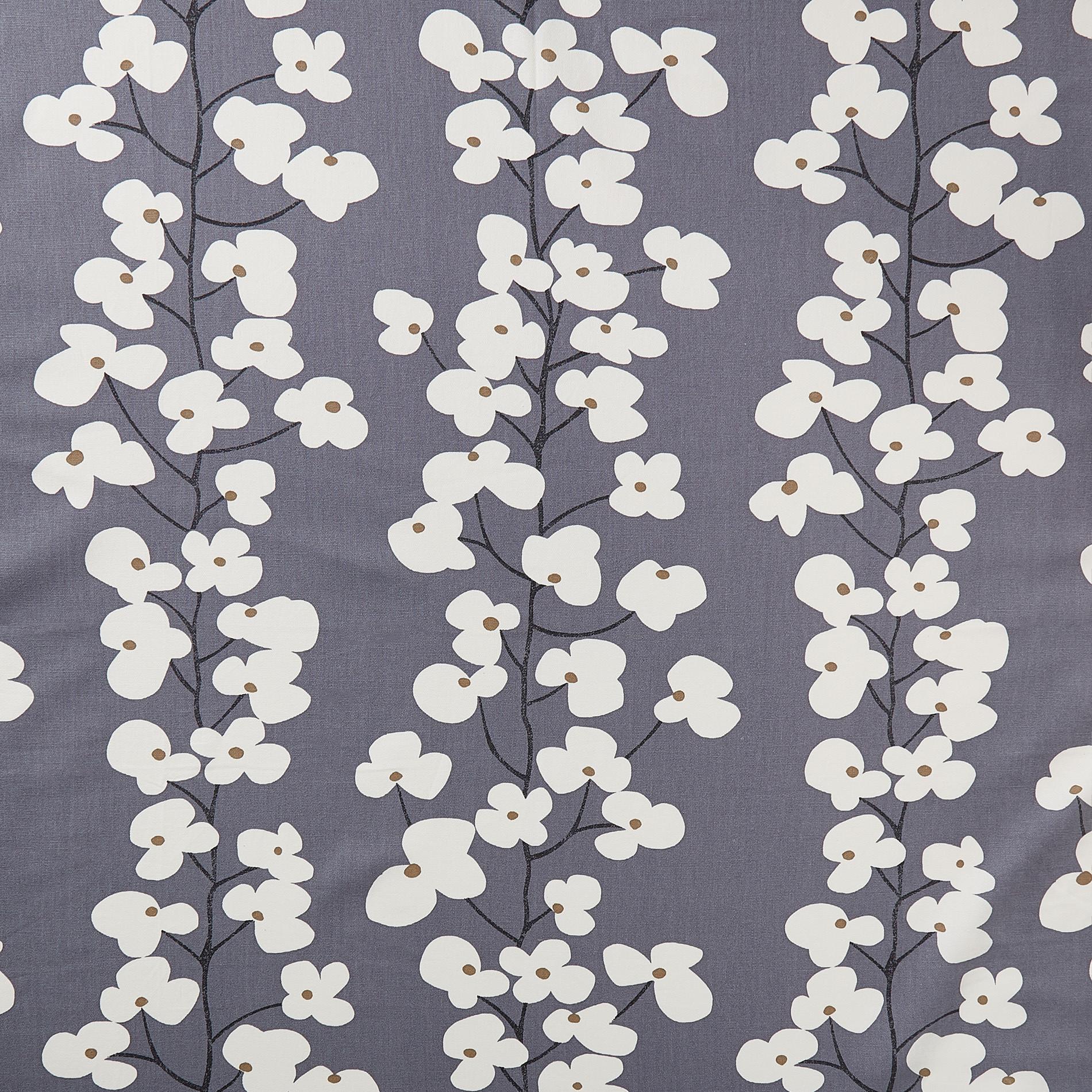 Tovaglia cotone stampa fiori, Bianco/Blu, large image number 1