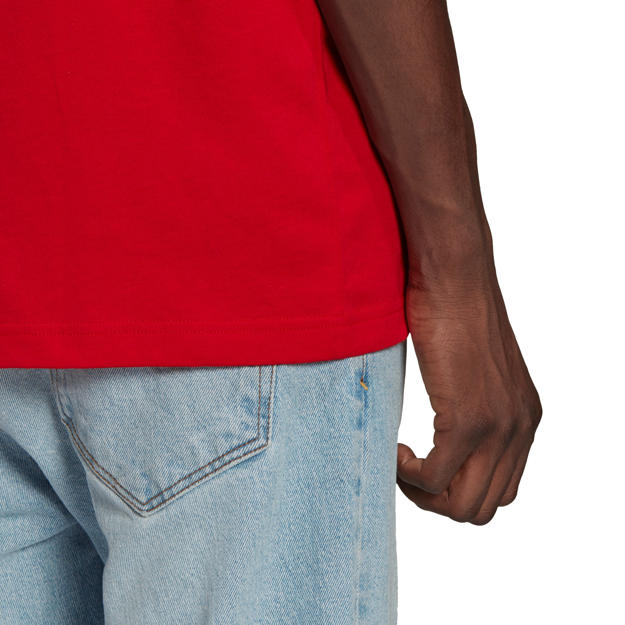 T-shirt loungewear adicolor trefoil essentials, Rosso, large image number 5