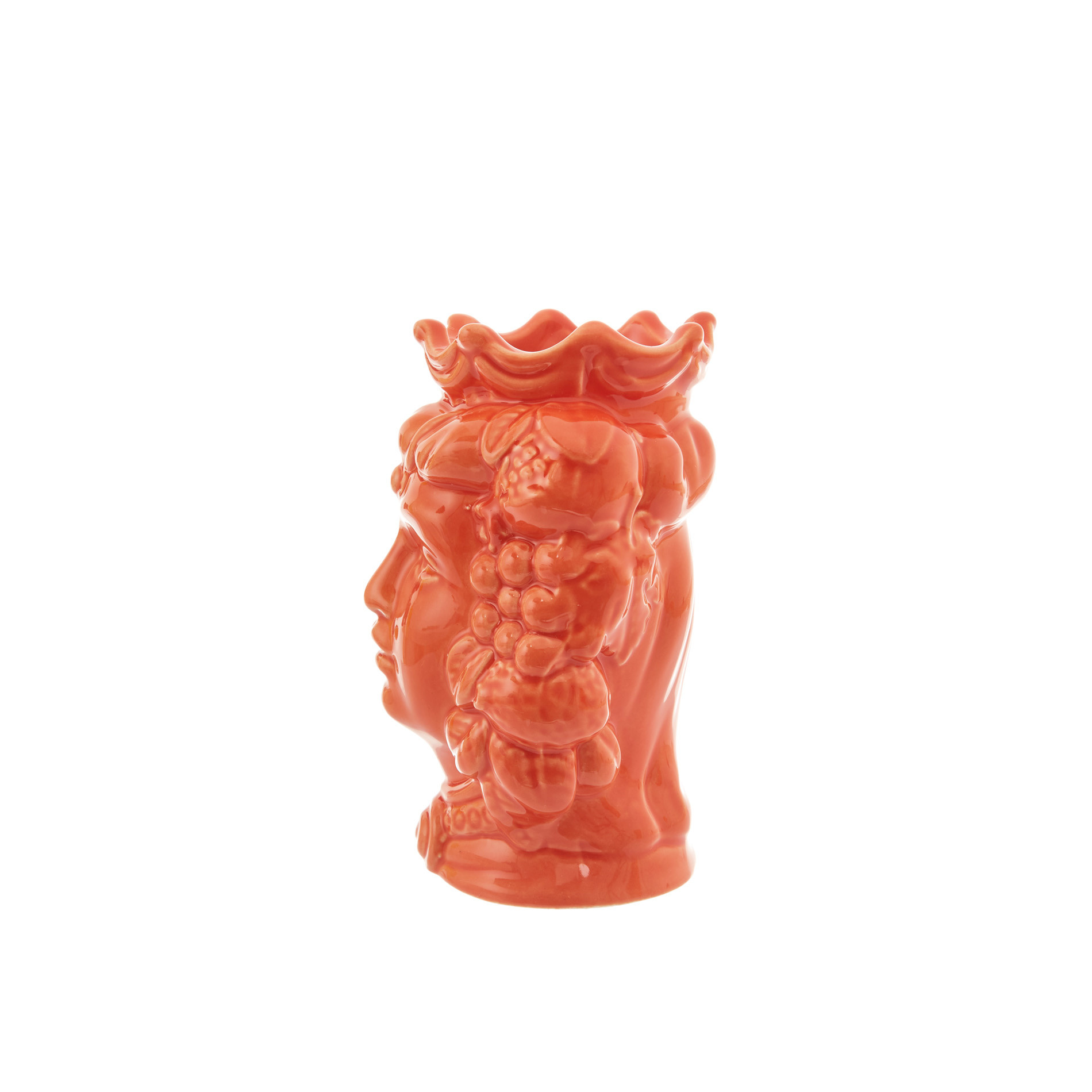 Testa di moro by Ceramiche Siciliane Ruggeri, Arancione, large image number 1