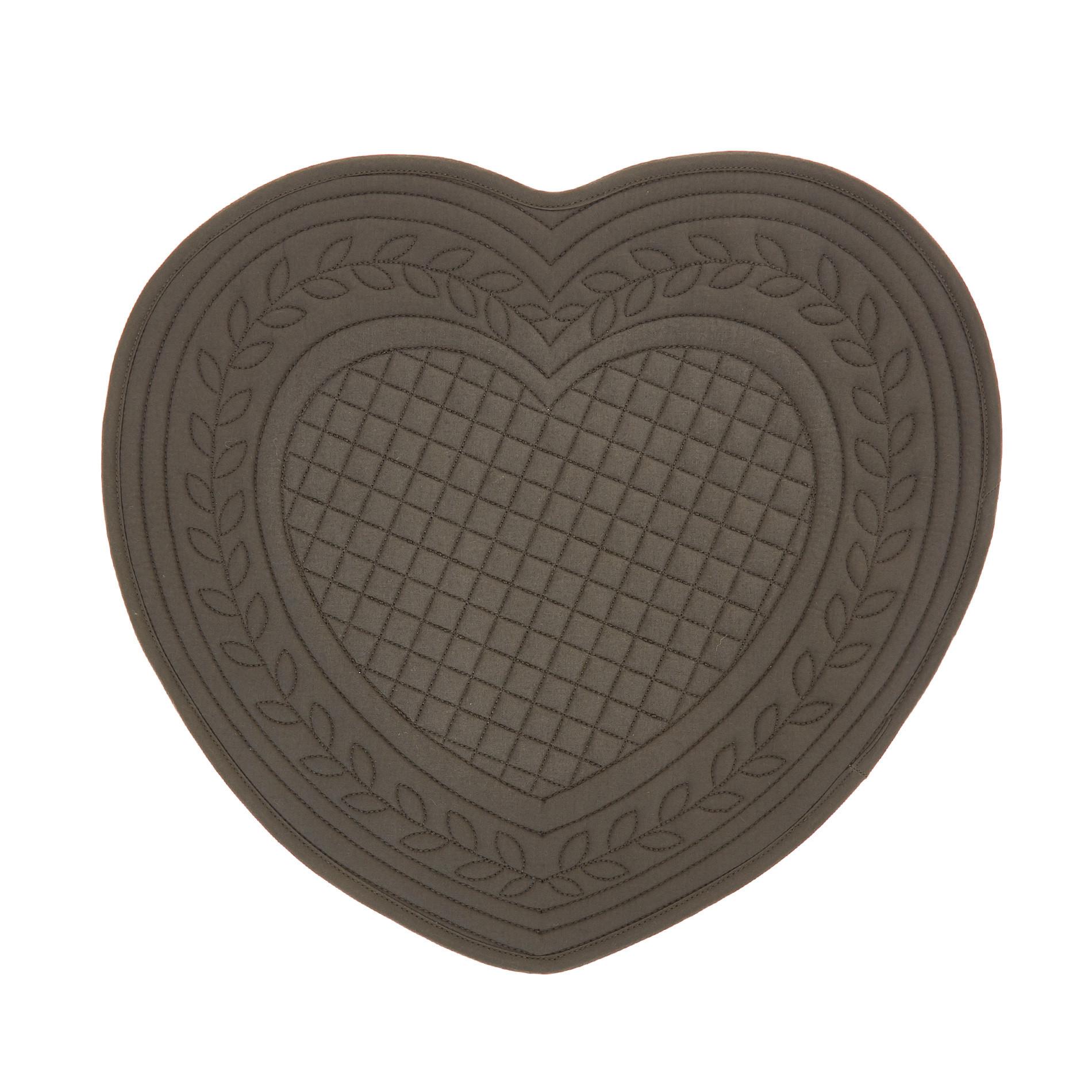 Tovaglietta a cuore cotone trapuntato, Grigio scuro, large image number 0
