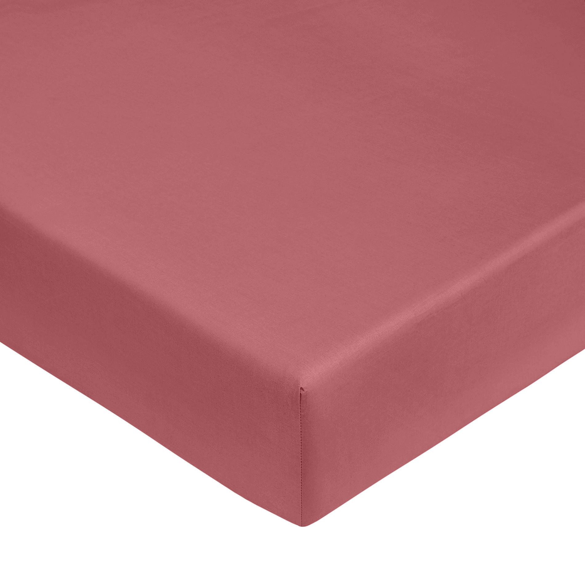 Lenzuolo con angoli raso di puro cotone Zefiro, Rosa scuro, large image number 0