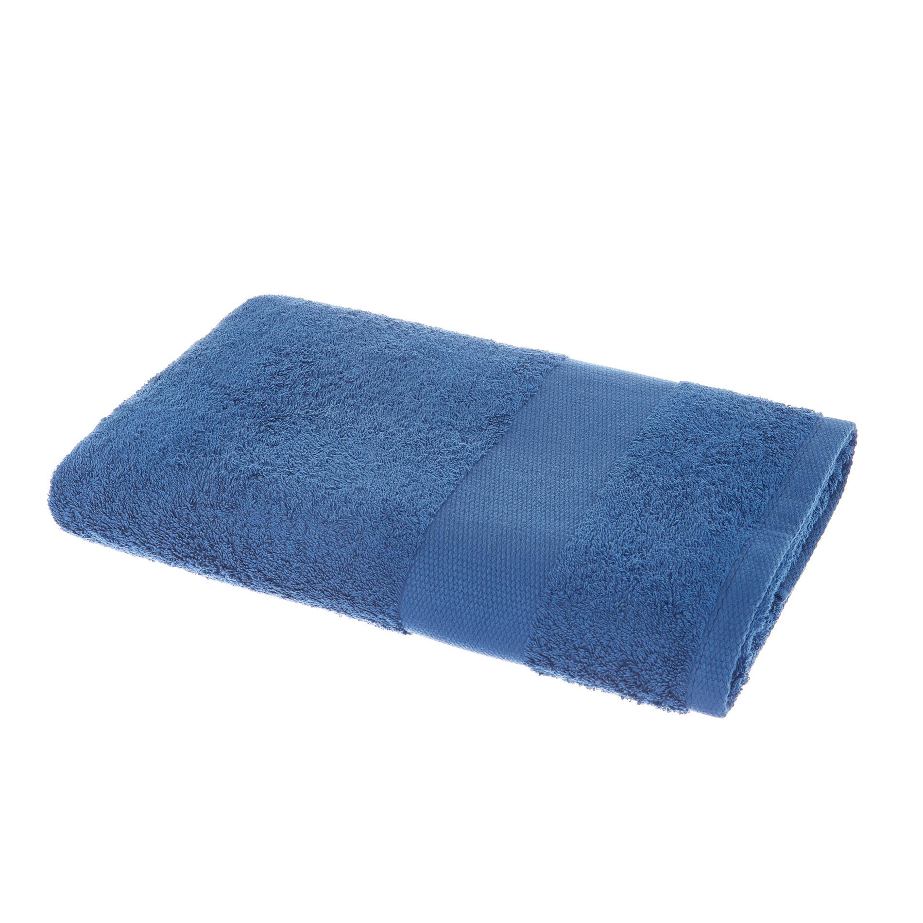 Asciugamano spugna di puro cotone Zefiro, Blu bluette, large image number 1