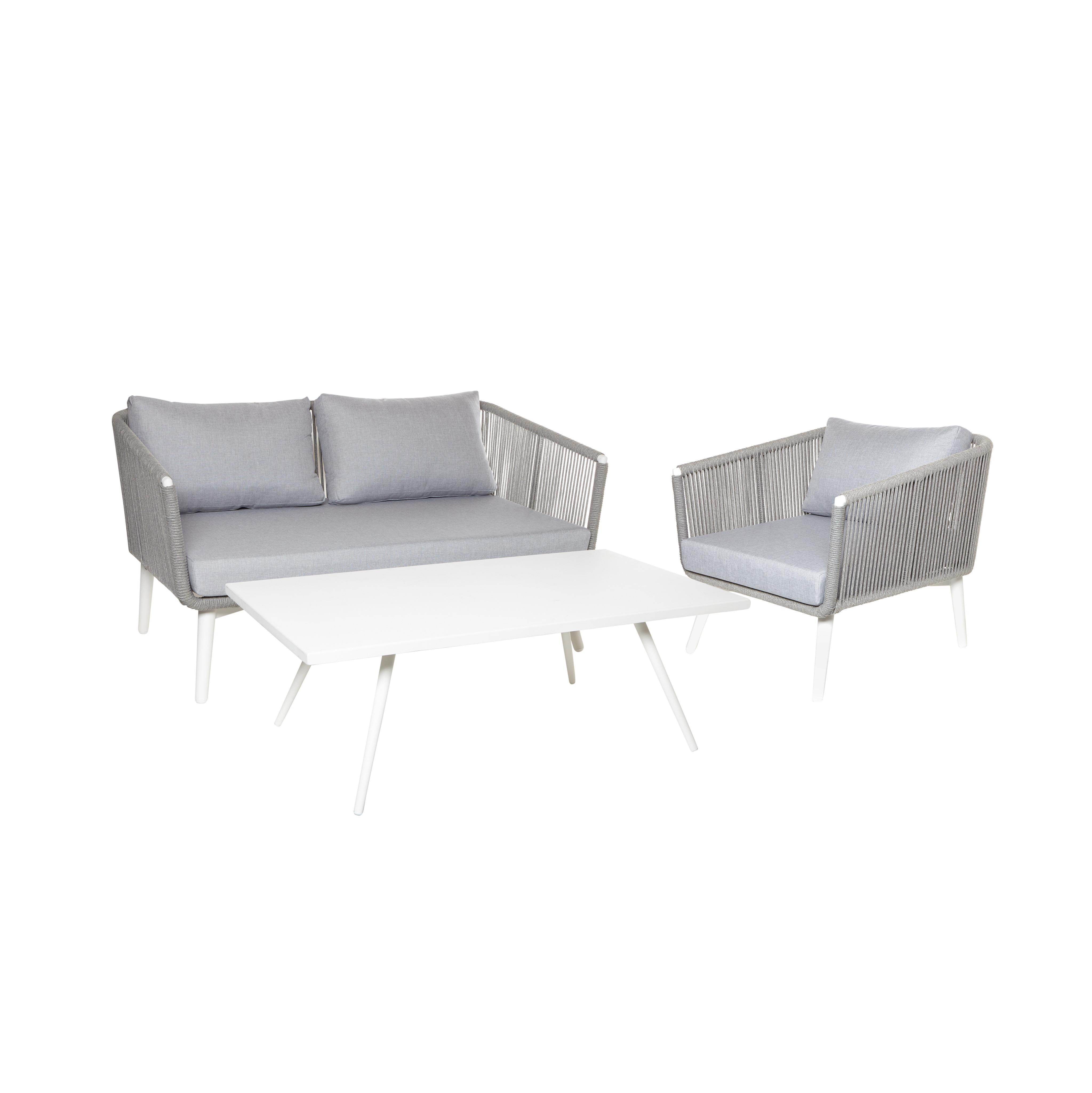 Tavolino alluminio verniciato Cancun, Bianco, large image number 2