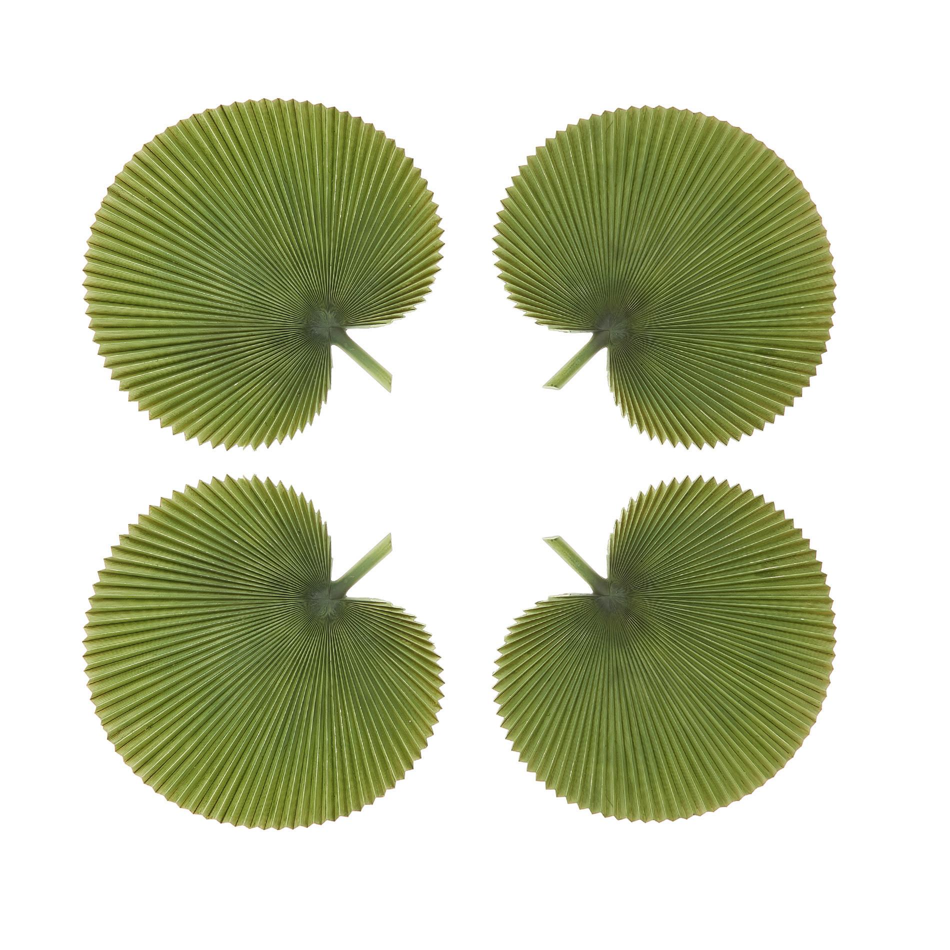 Set 4 foglie di palma decorative, Verde scuro, large image number 0