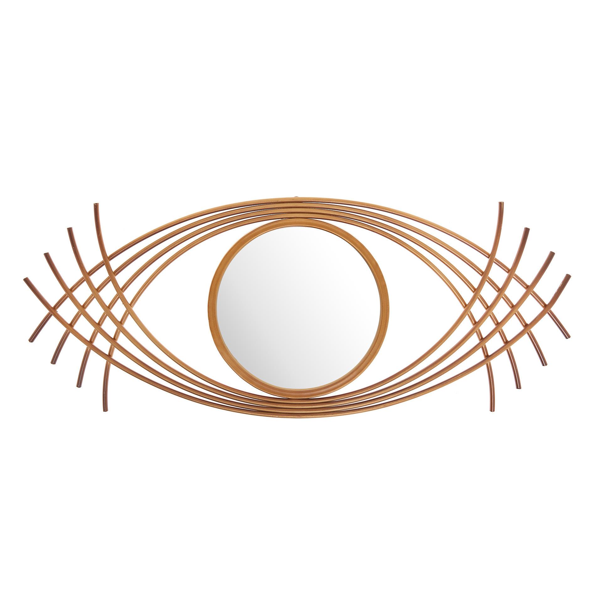 Specchio decorativo cornice ferro, Oro, large image number 0