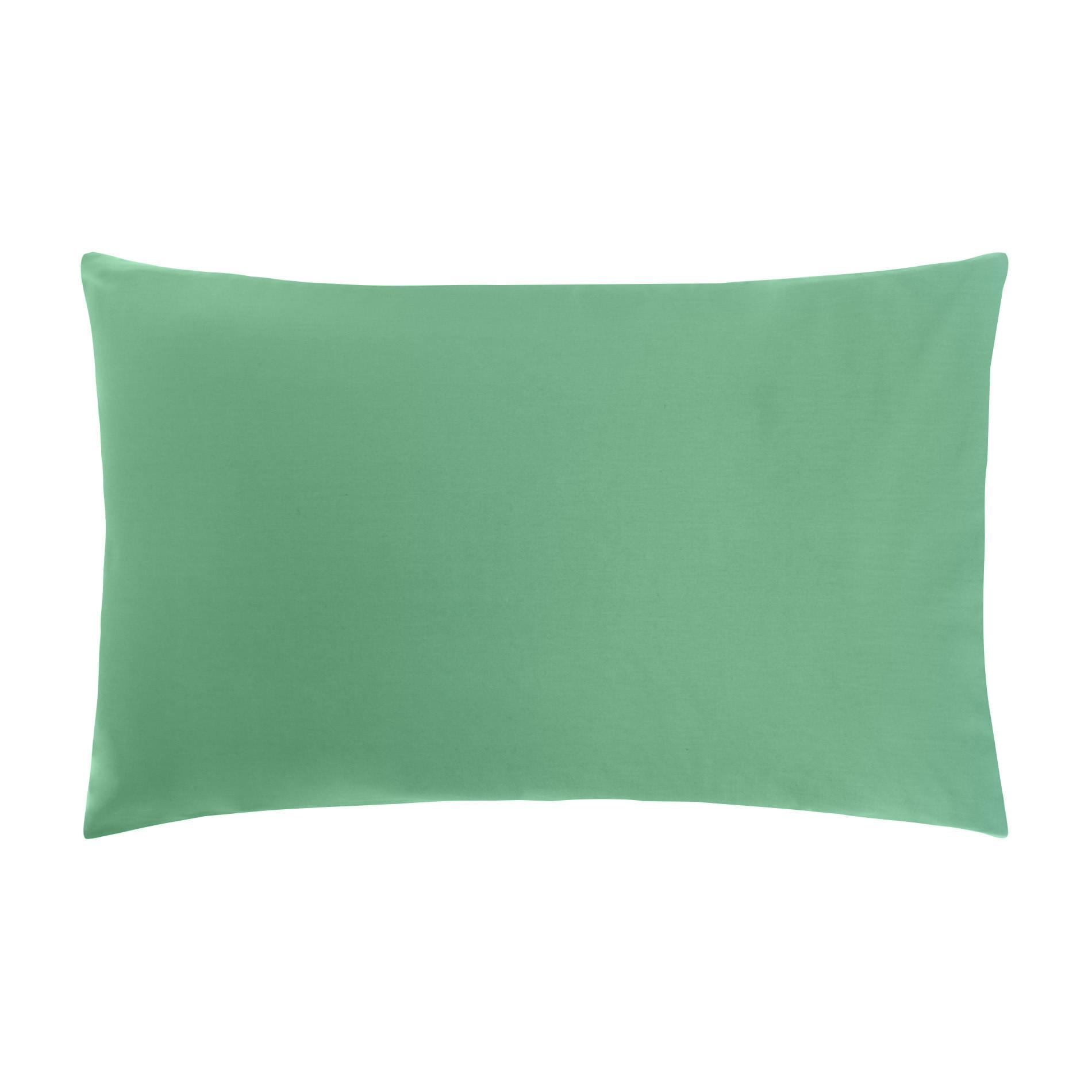 Federa puro cotone tinta unita, Verde smeraldo, large image number 0