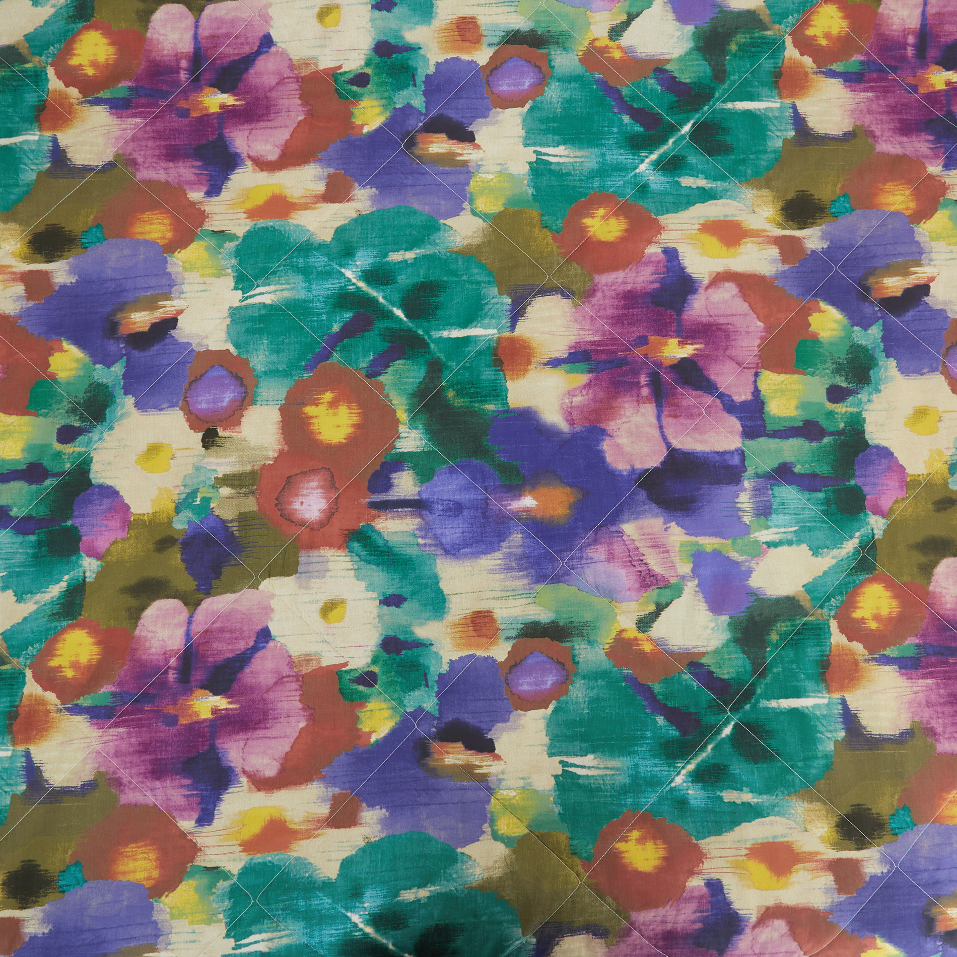 Trapunta cotone biologico fantasia amazzonia, Multicolor, large image number 2