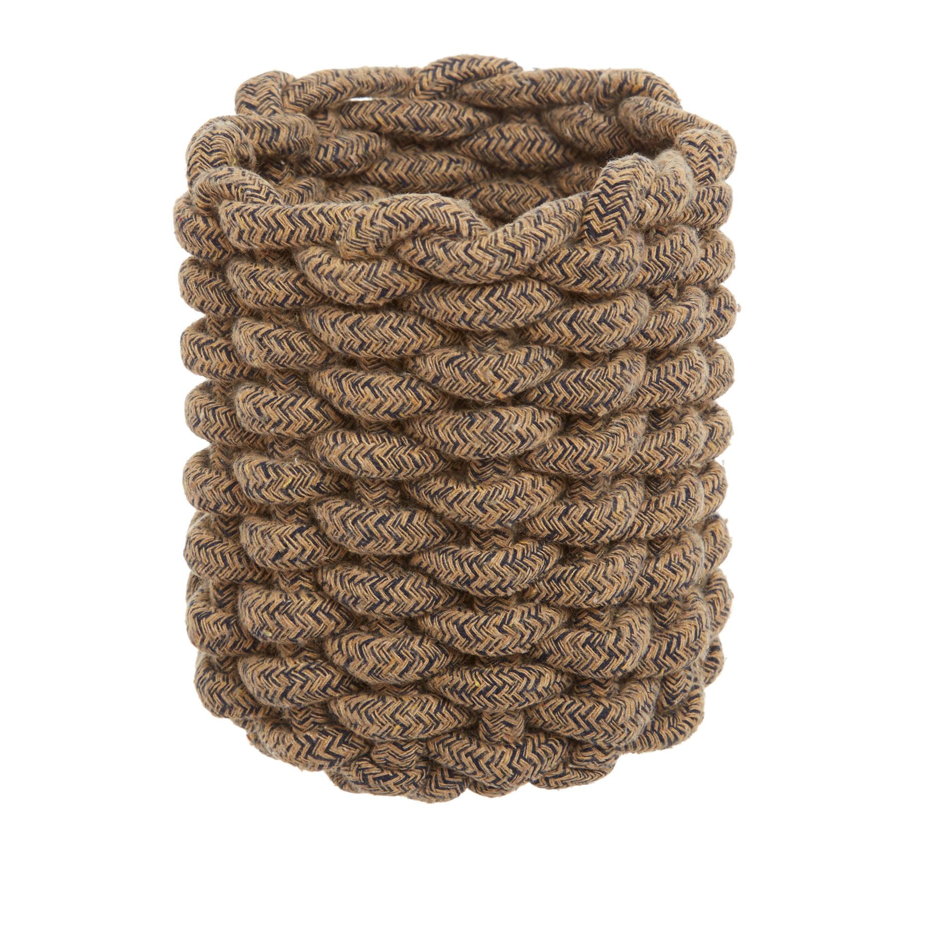 Cestino portatutto in corda intrecciata, Beige scuro, large image number 0