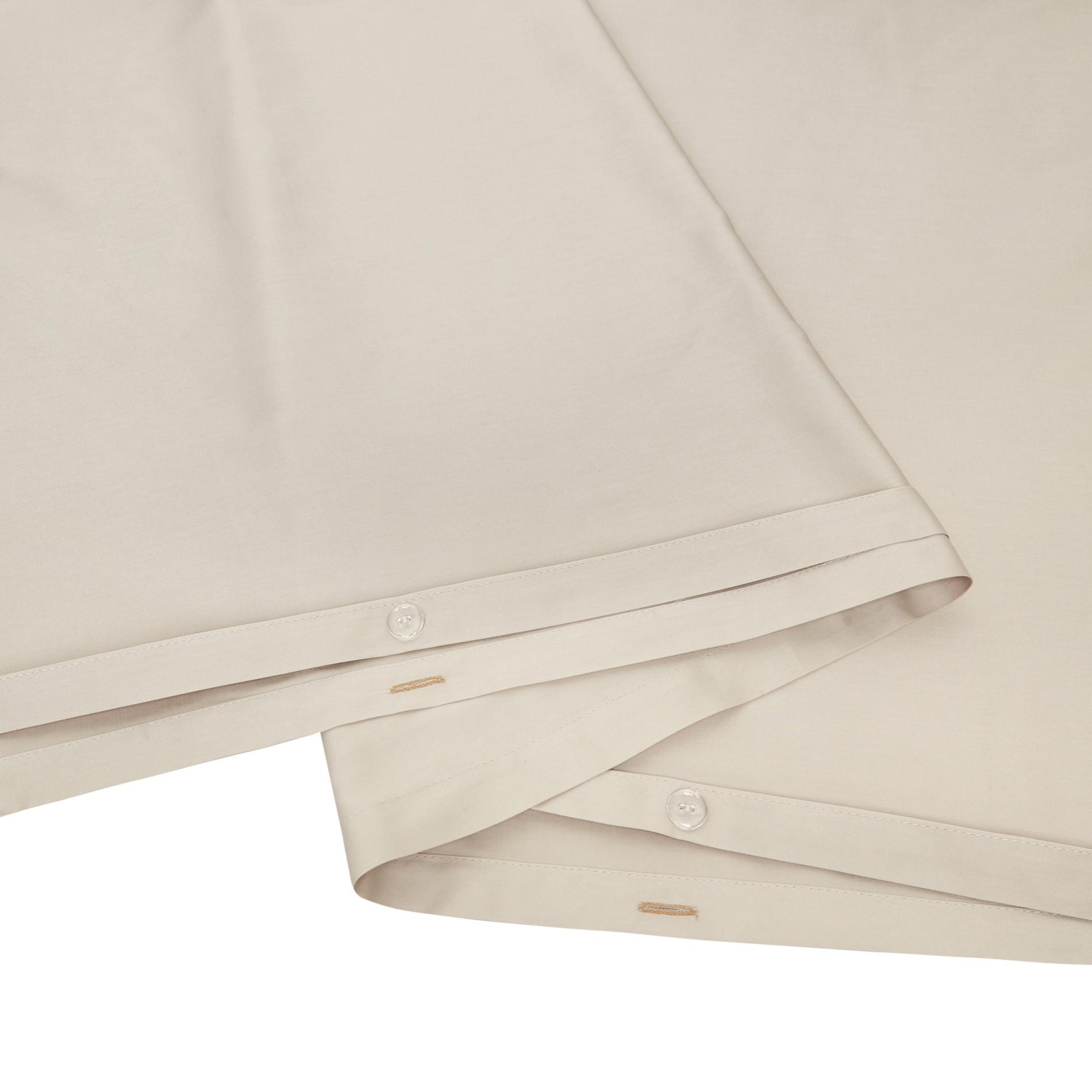 Parure copripiumino raso di puro cotone Zefiro, Beige, large image number 2