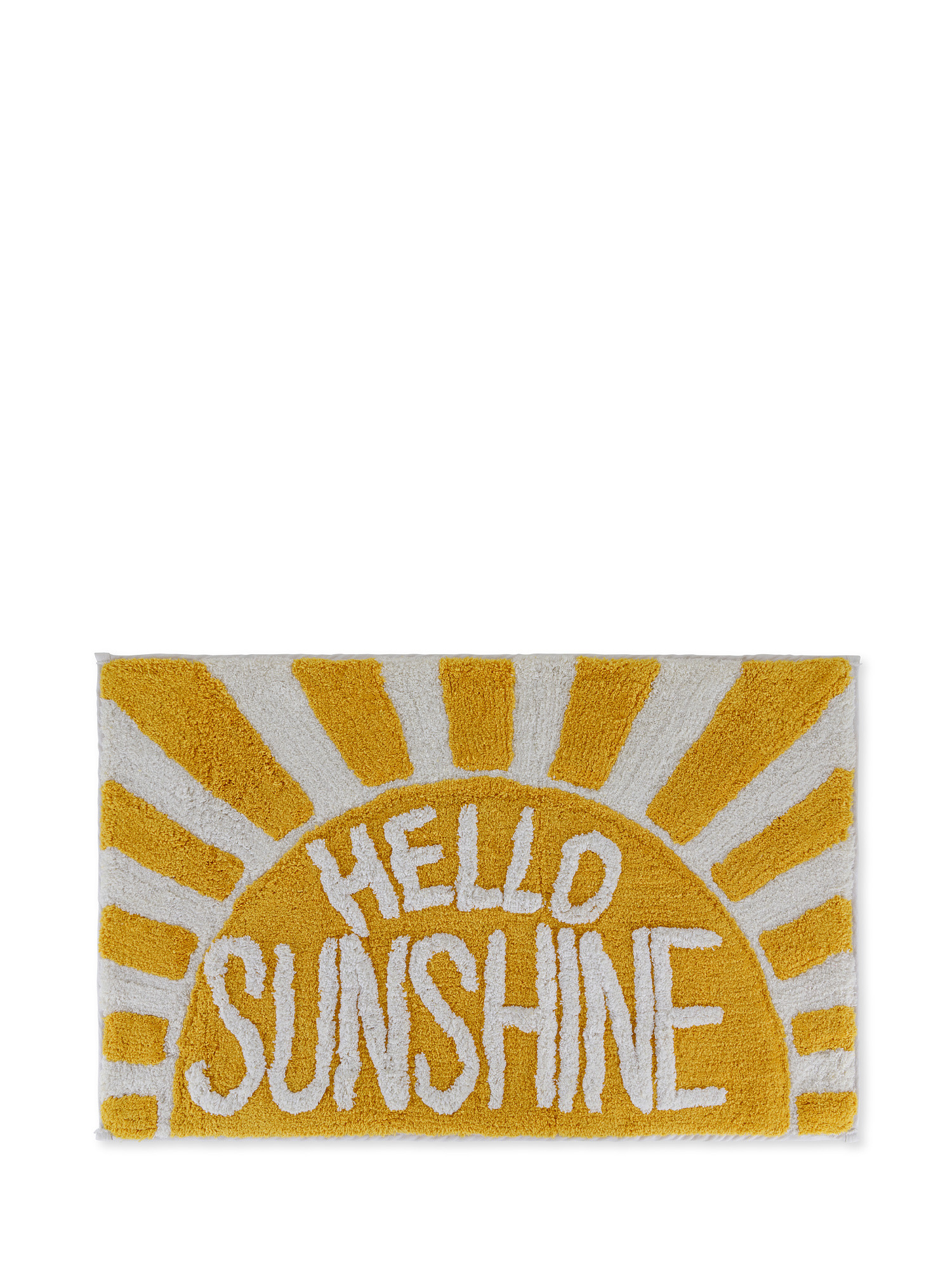Tappeto bagno spugna di cotone Hello sunshine, Multicolor, large image number 0