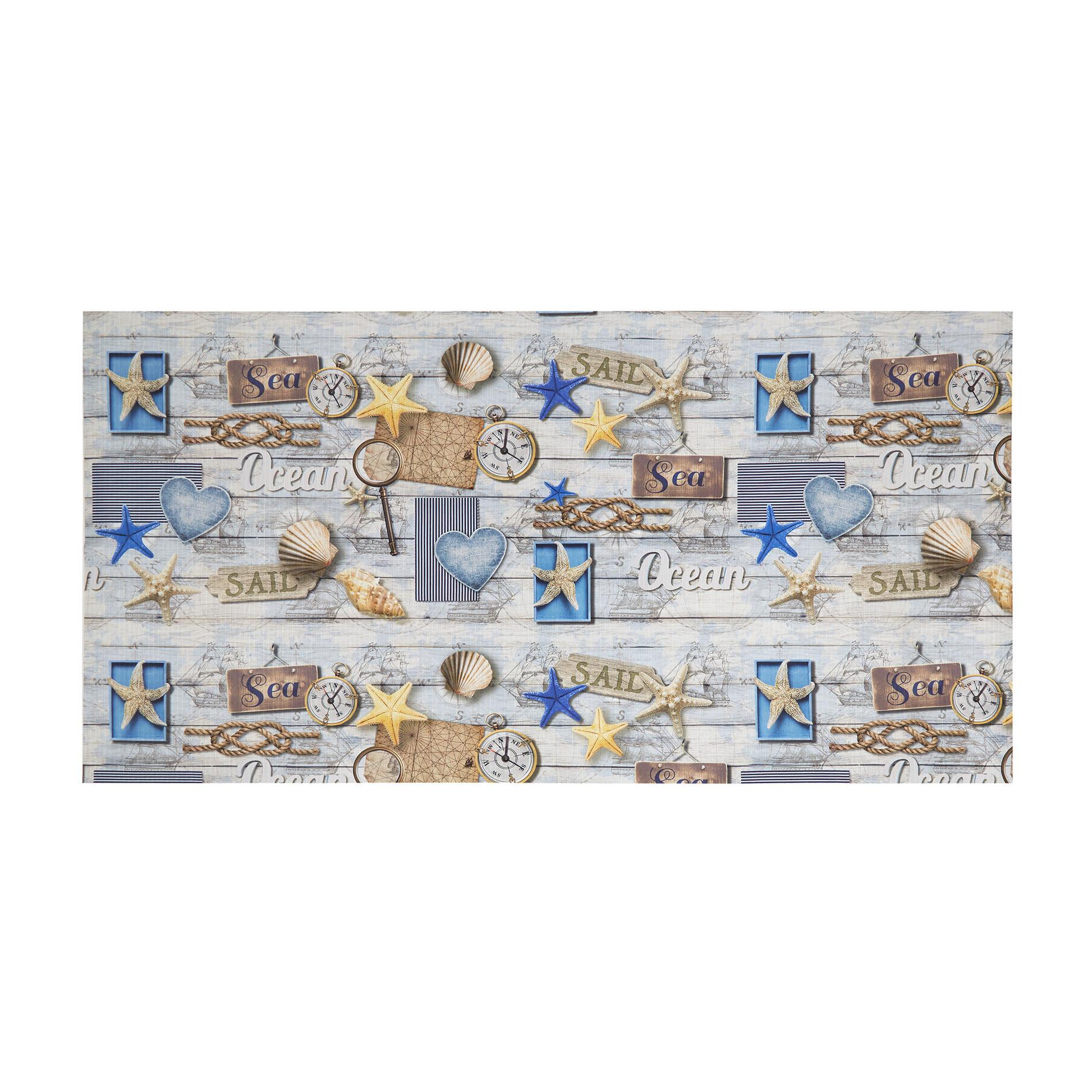 Tappeto da esterno PVC stampa marina, Azzurro, large image number 0