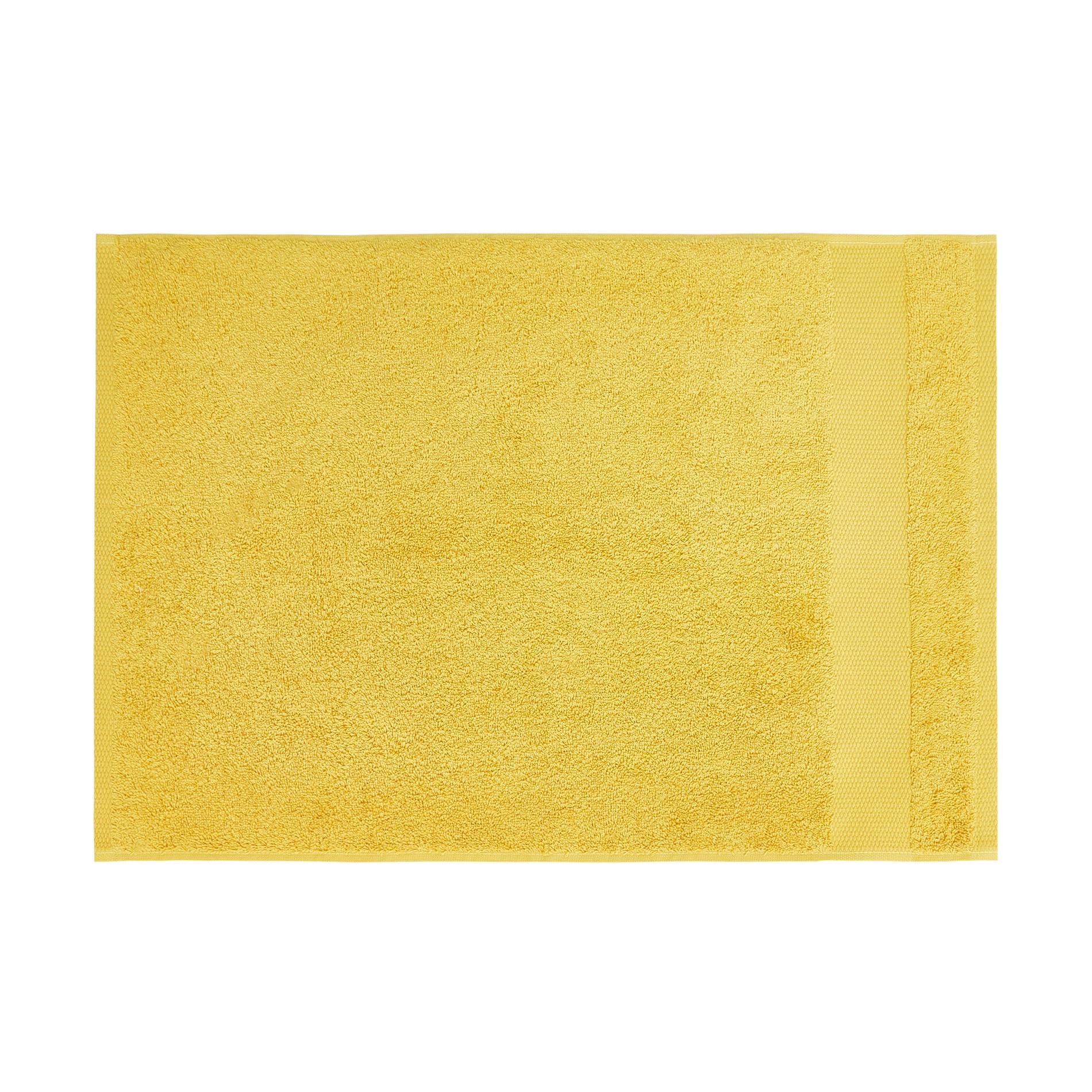 Asciugamano spugna di puro cotone Zefiro, Giallo senape, large image number 2