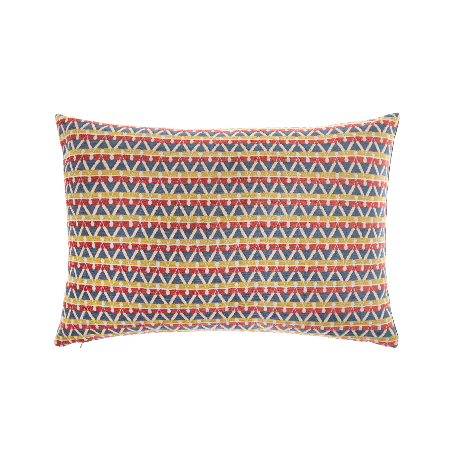 Cuscino jacquard motivo geometrico 35x55cm, Multicolor, large image number 0