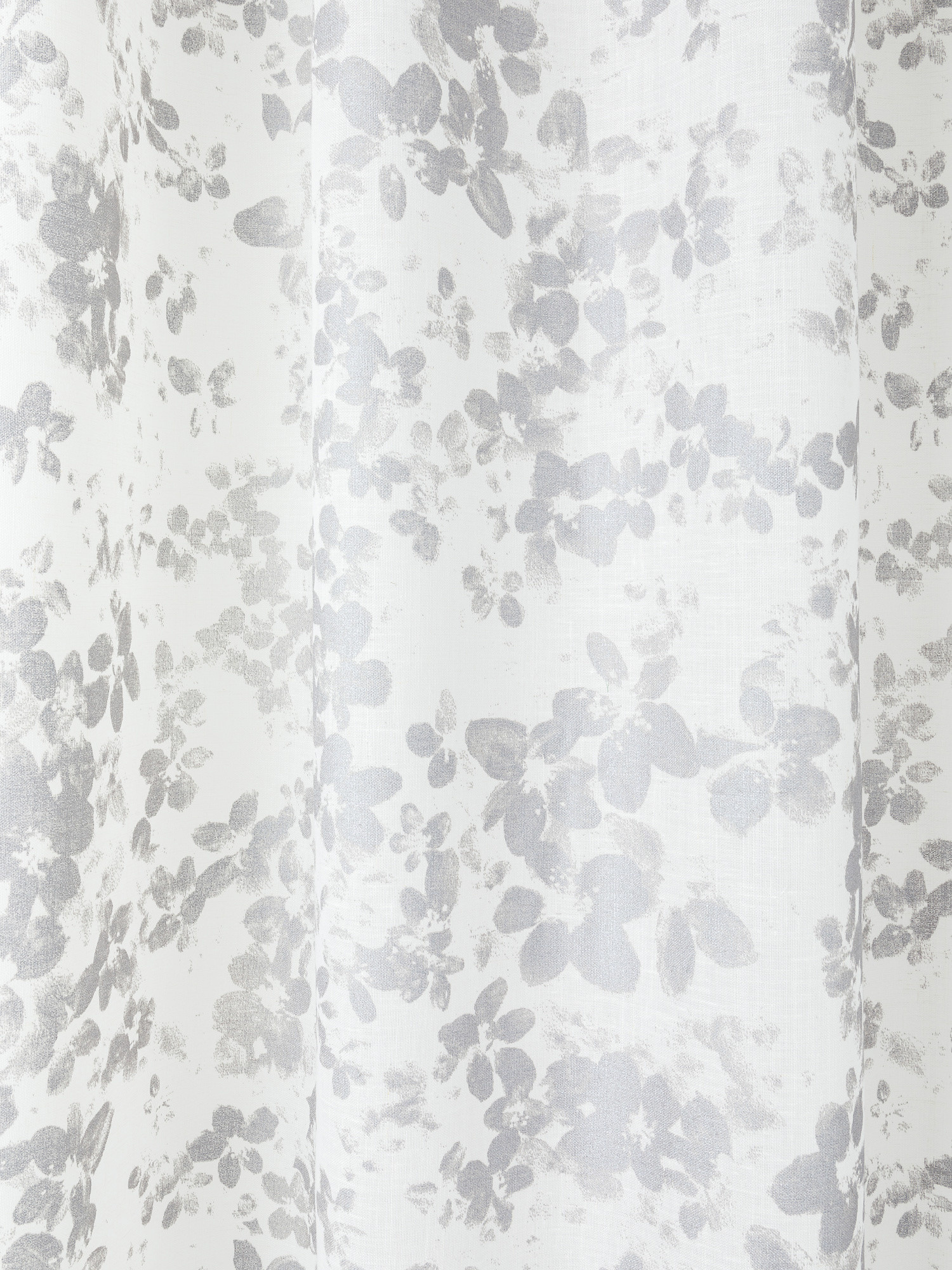 Tenda stampa floreale con passanti nascosti, Grigio, large image number 2