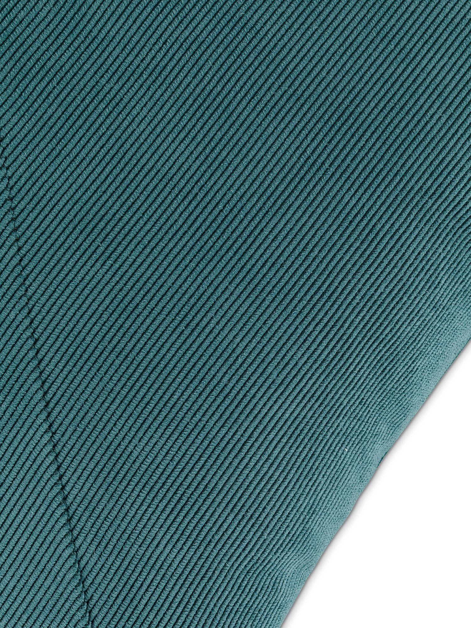 Cuscino velluto a costine 45x45cm, Petrolio, large image number 2