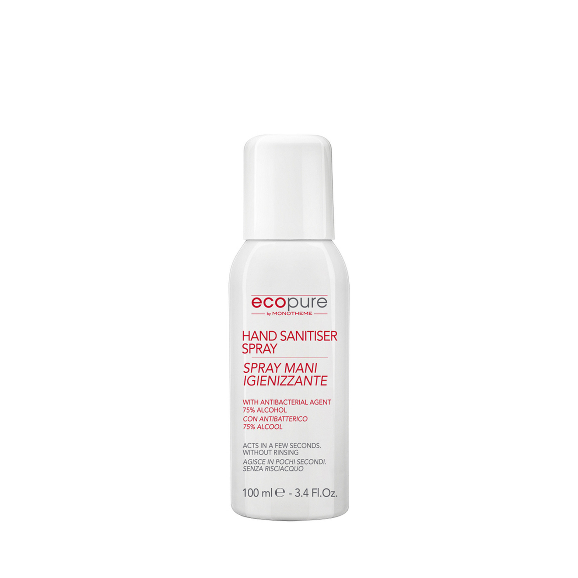 Spray igienizzante mani Ecopure by Monotheme 100ml, Trasparente, large image number 0