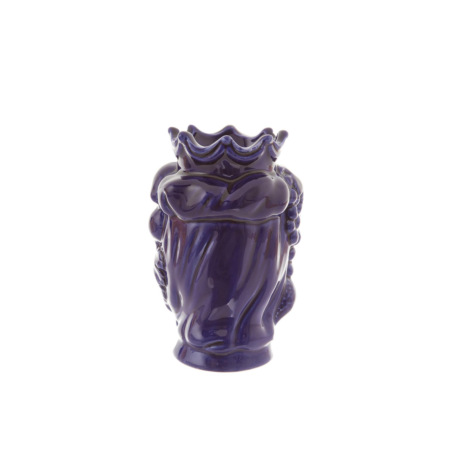 Testa di moro by Ceramiche Siciliane Ruggeri, Blu, large image number 2